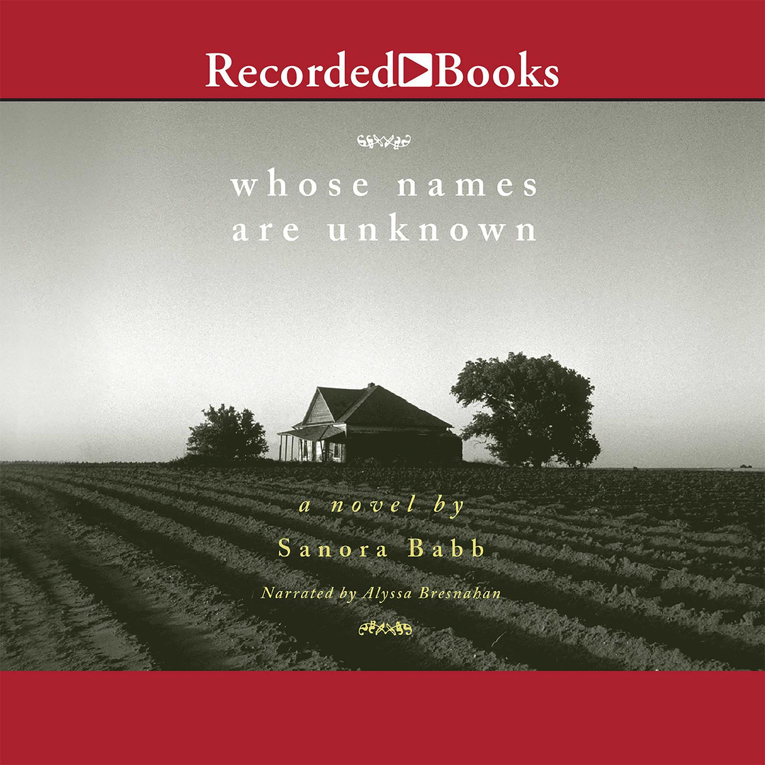 Printable Whose Names Are Unknown: A Novel Audiobook Cover Art
