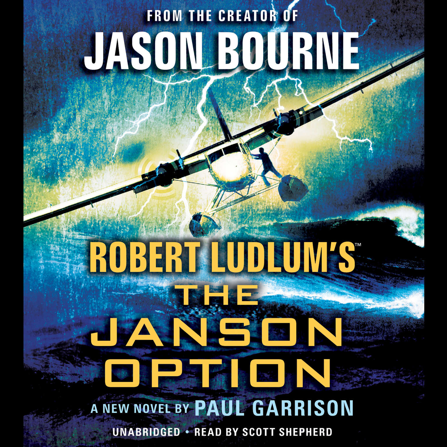 Printable Robert Ludlum's The Janson Option Audiobook Cover Art