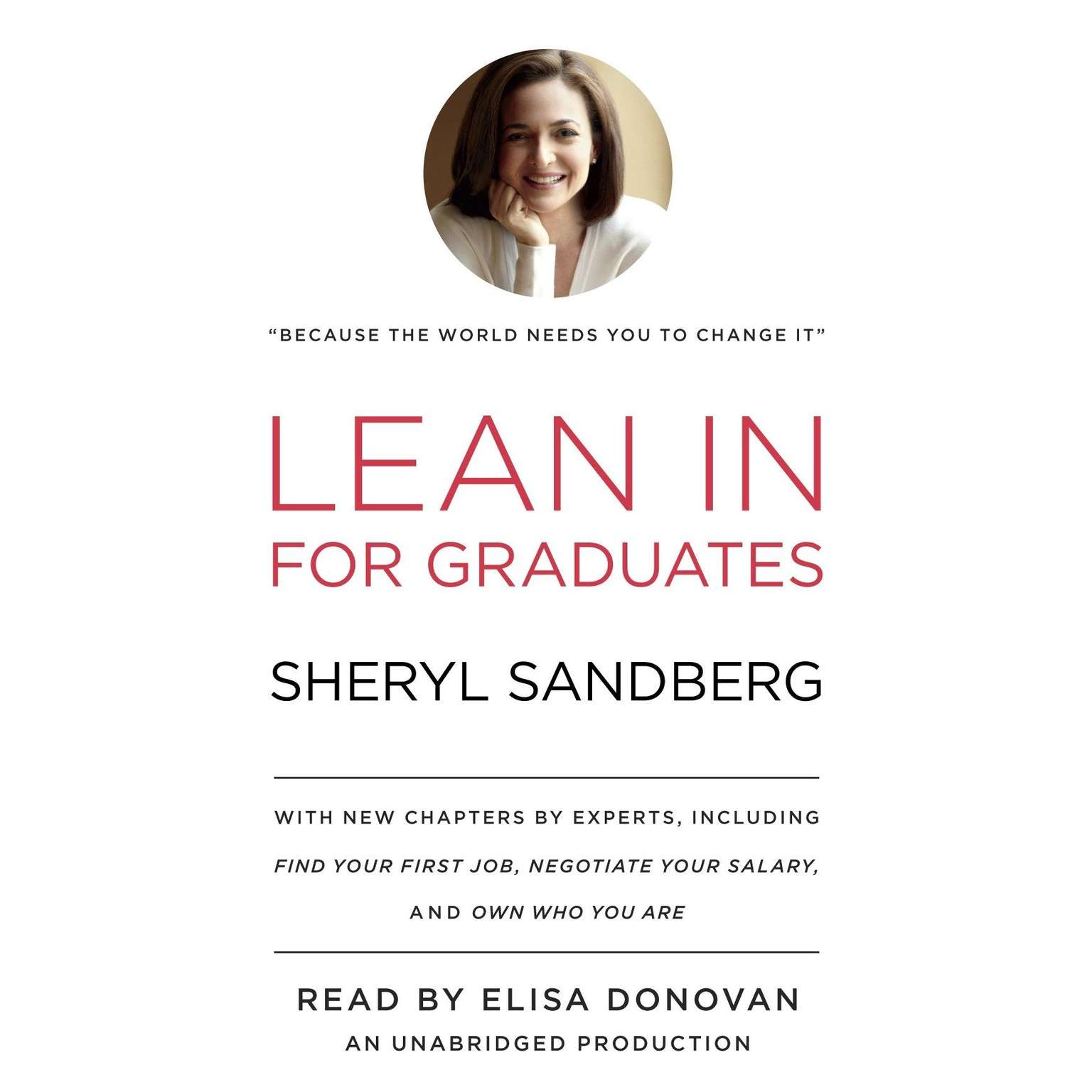 Printable Lean In for Graduates Audiobook Cover Art