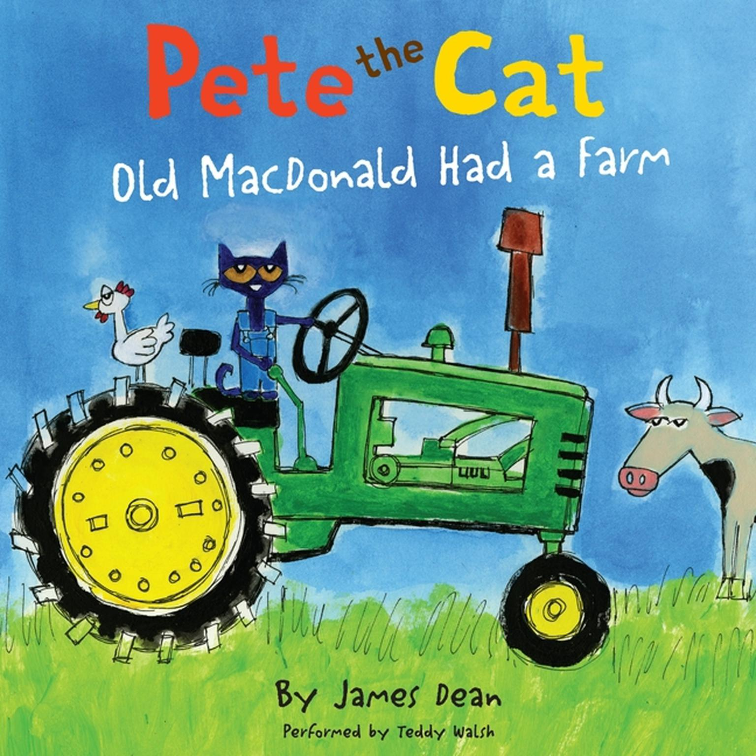 Printable Pete the Cat: Old MacDonald Had a Farm Audiobook Cover Art