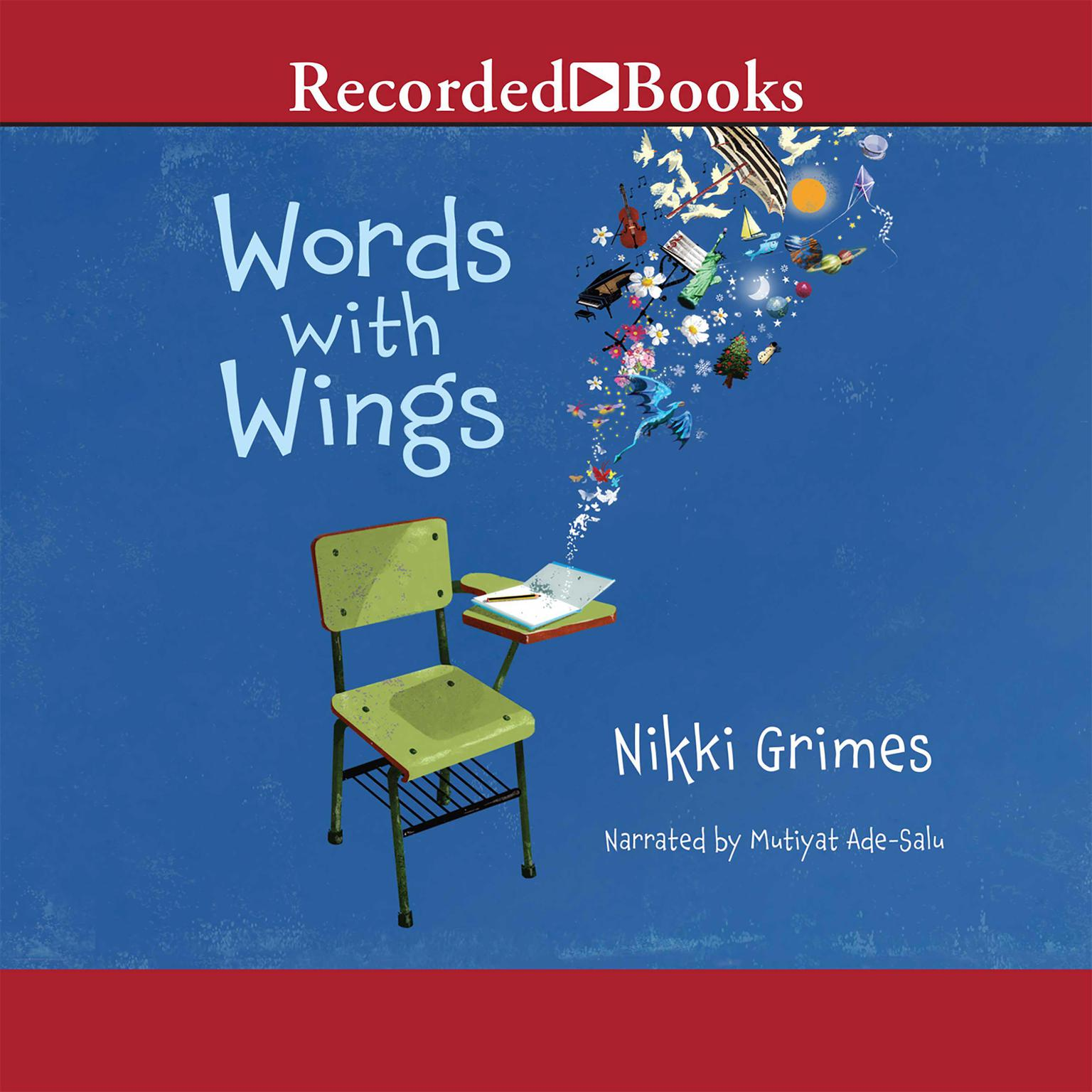 Printable Words with Wings Audiobook Cover Art