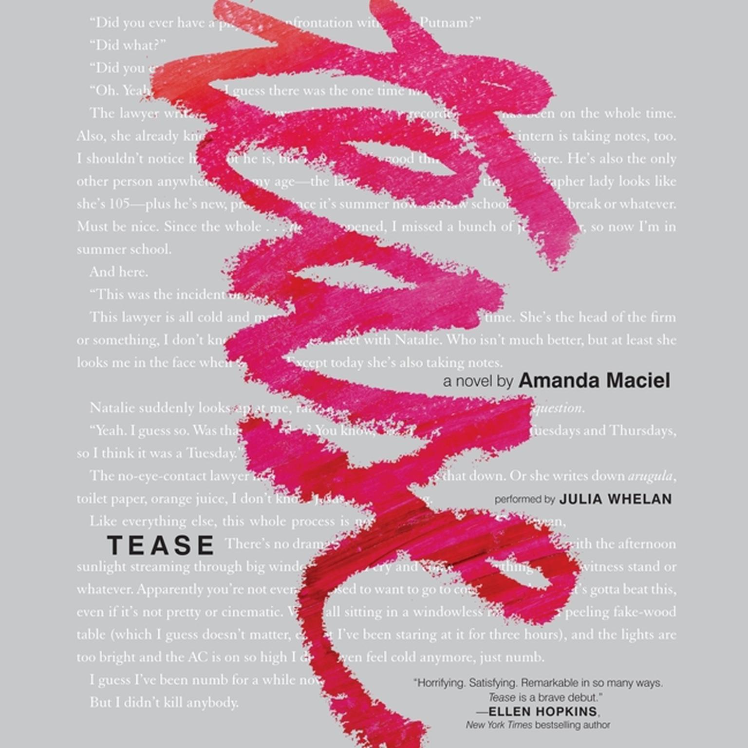 Printable Tease Audiobook Cover Art
