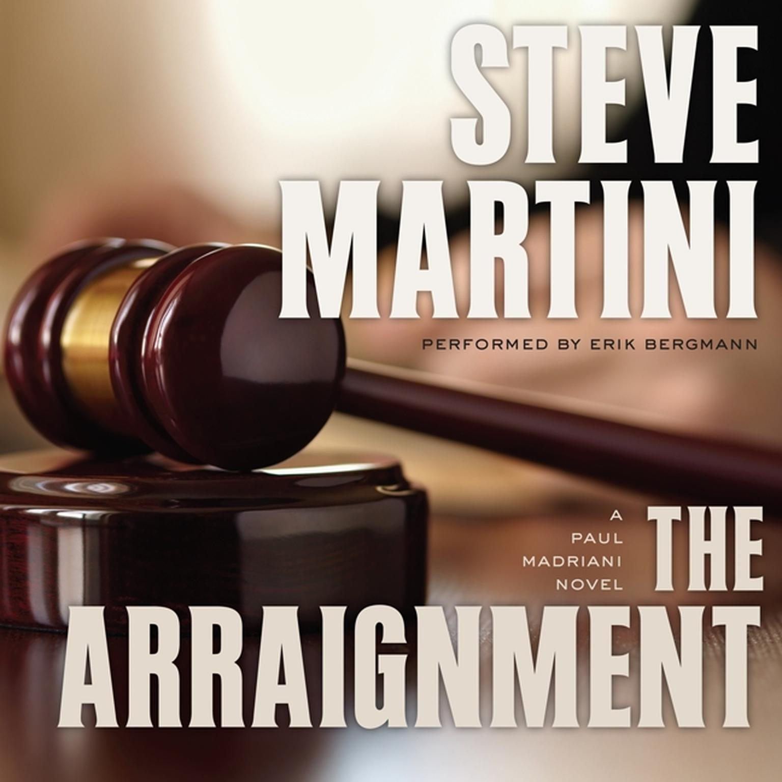 Printable The Arraignment Audiobook Cover Art