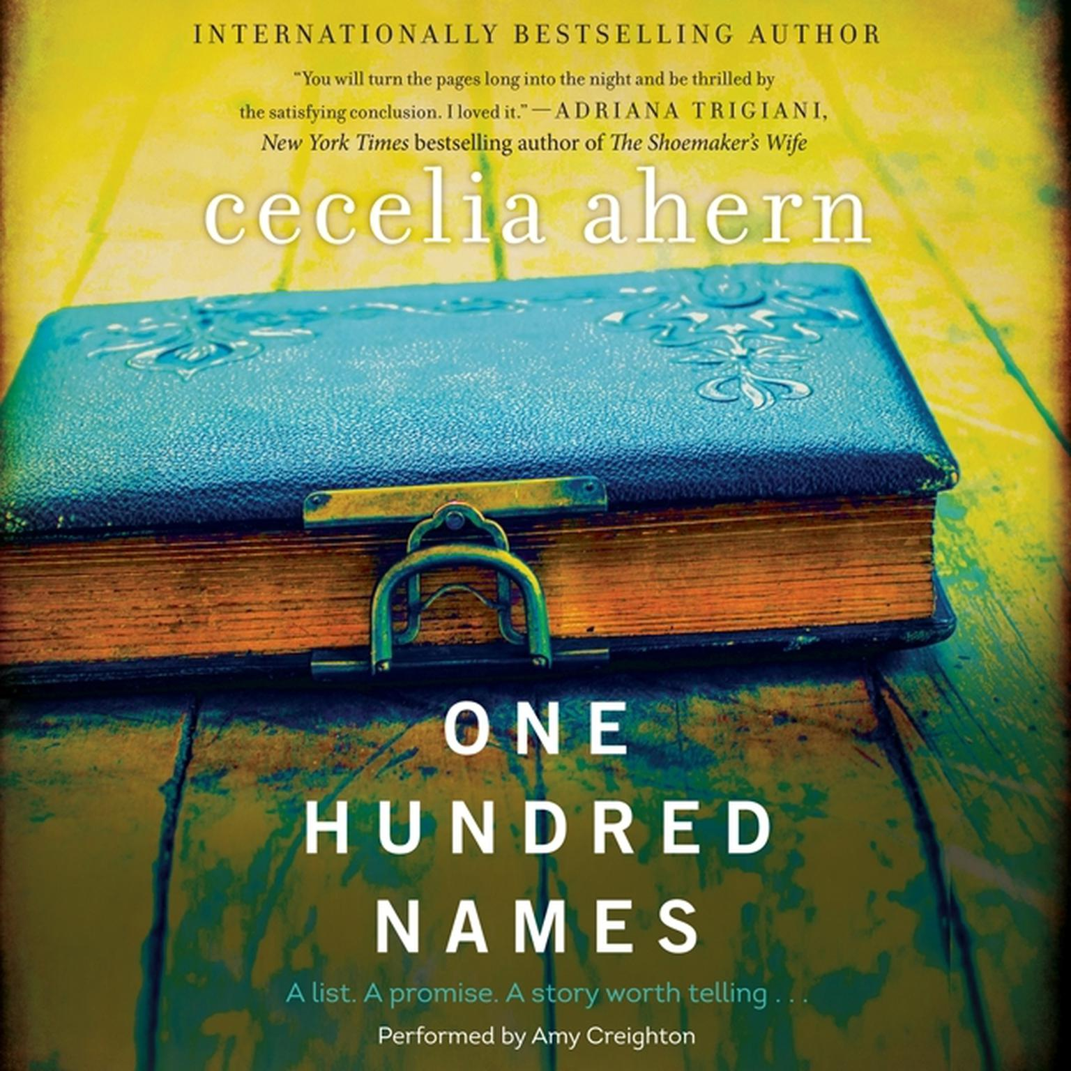 Printable One Hundred Names: A Novel Audiobook Cover Art