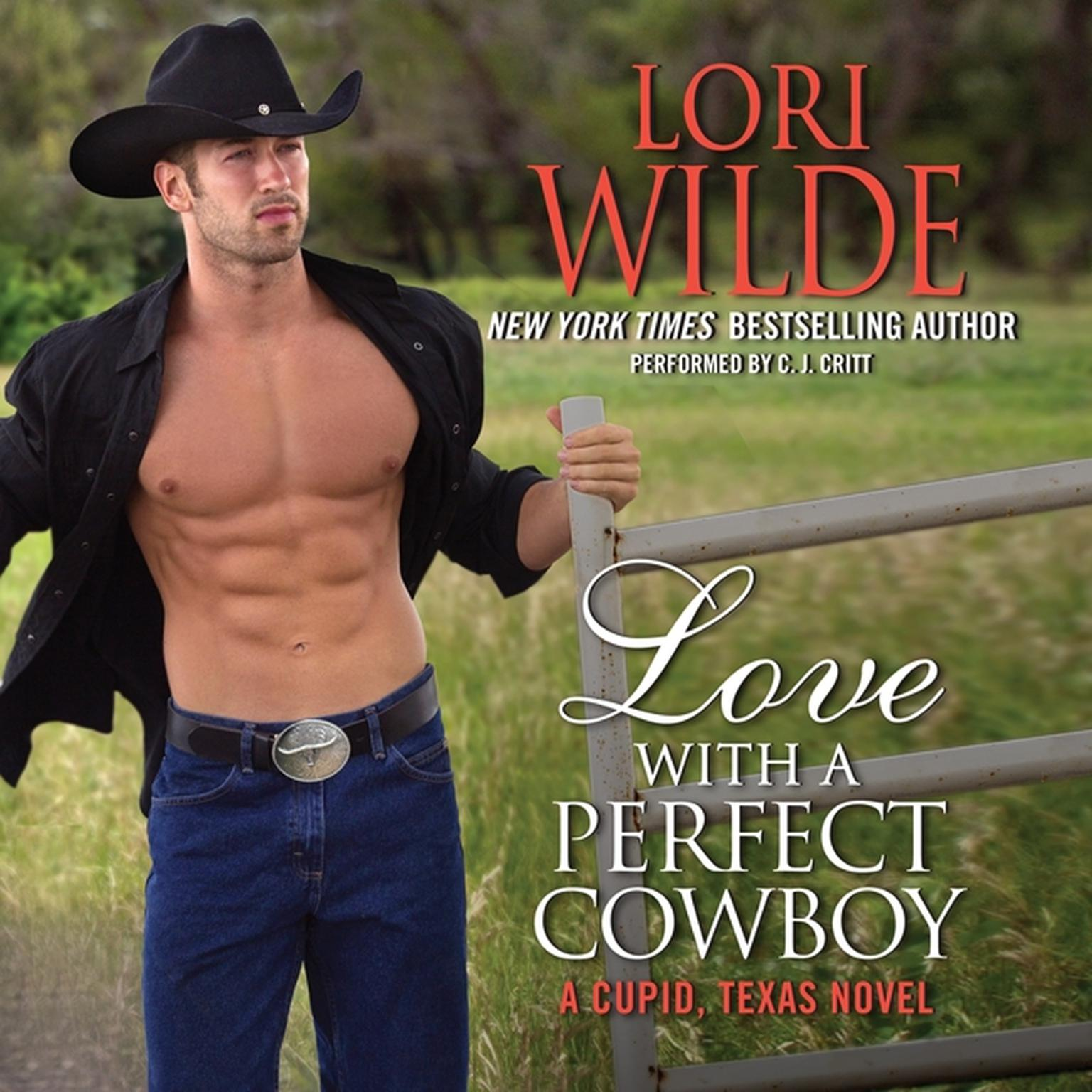 Printable Love with a Perfect Cowboy: A Cupid, Texas Novel Audiobook Cover Art