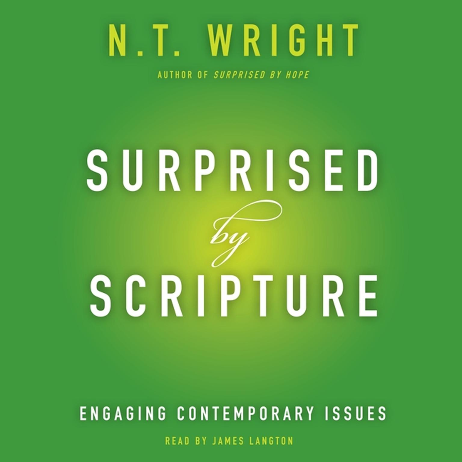 Printable Surprised by Scripture: Engaging Contemporary Issues Audiobook Cover Art