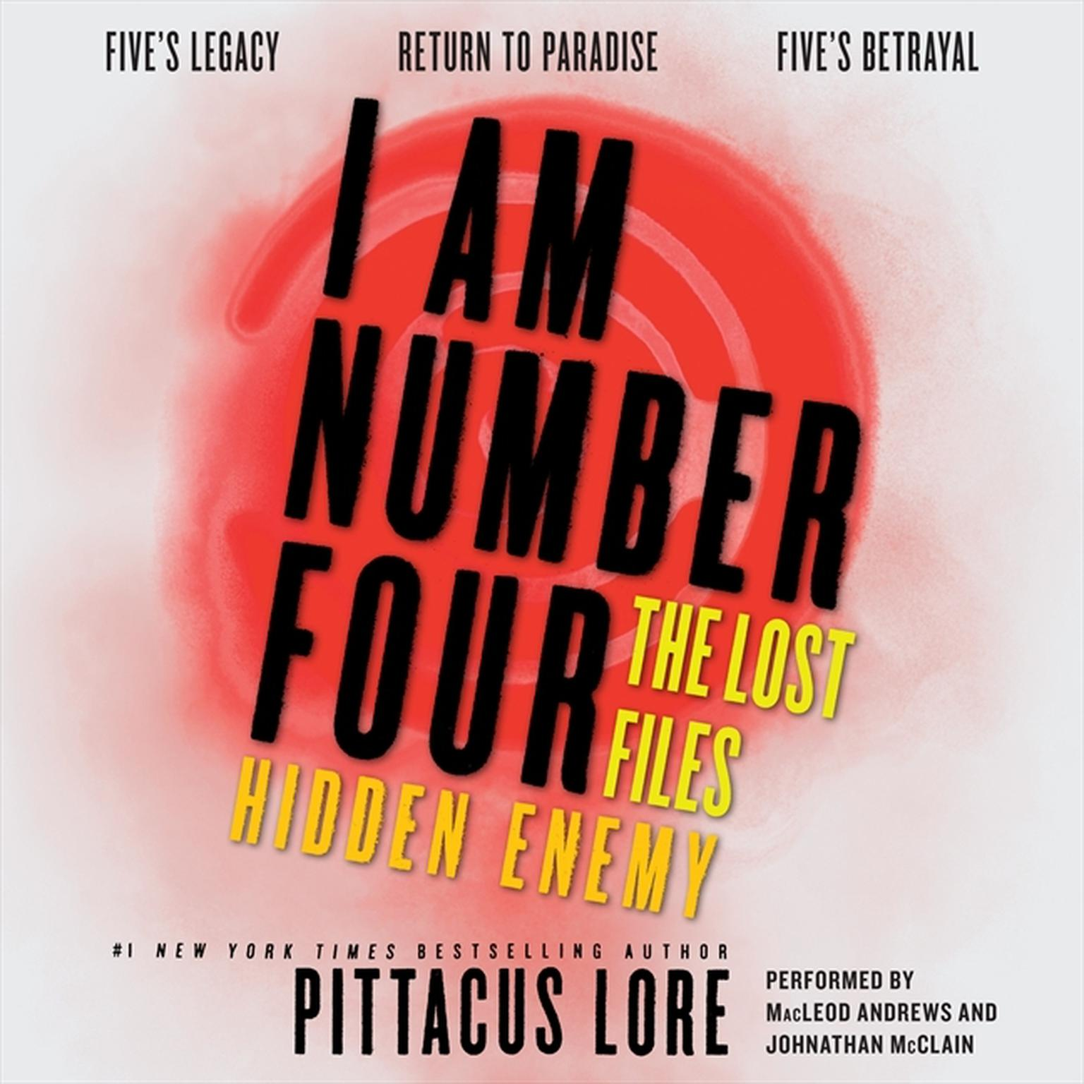 Printable I Am Number Four: The Lost Files: Hidden Enemy Audiobook Cover Art