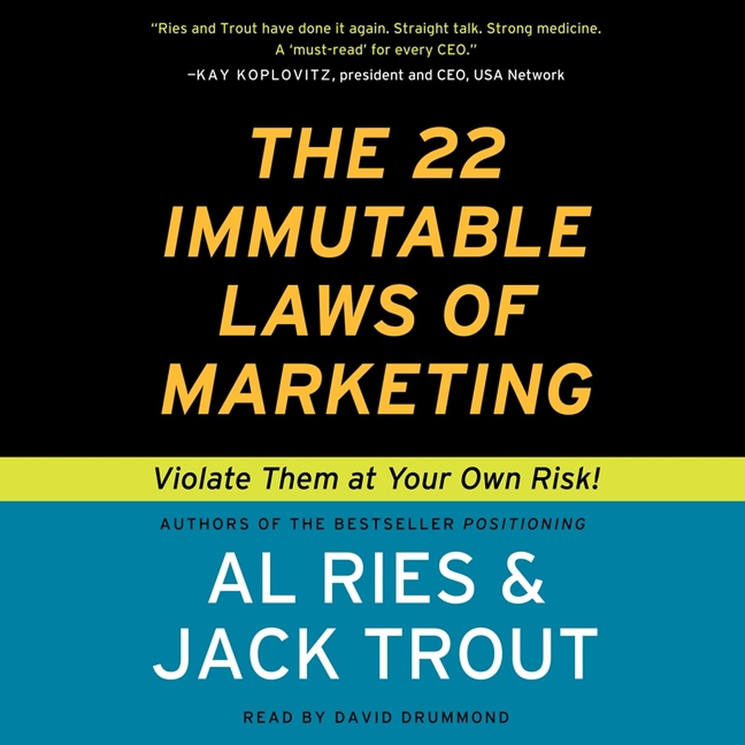 Printable The 22 Immutable Laws of Marketing: Violate Them at Your Own Risk! Audiobook Cover Art