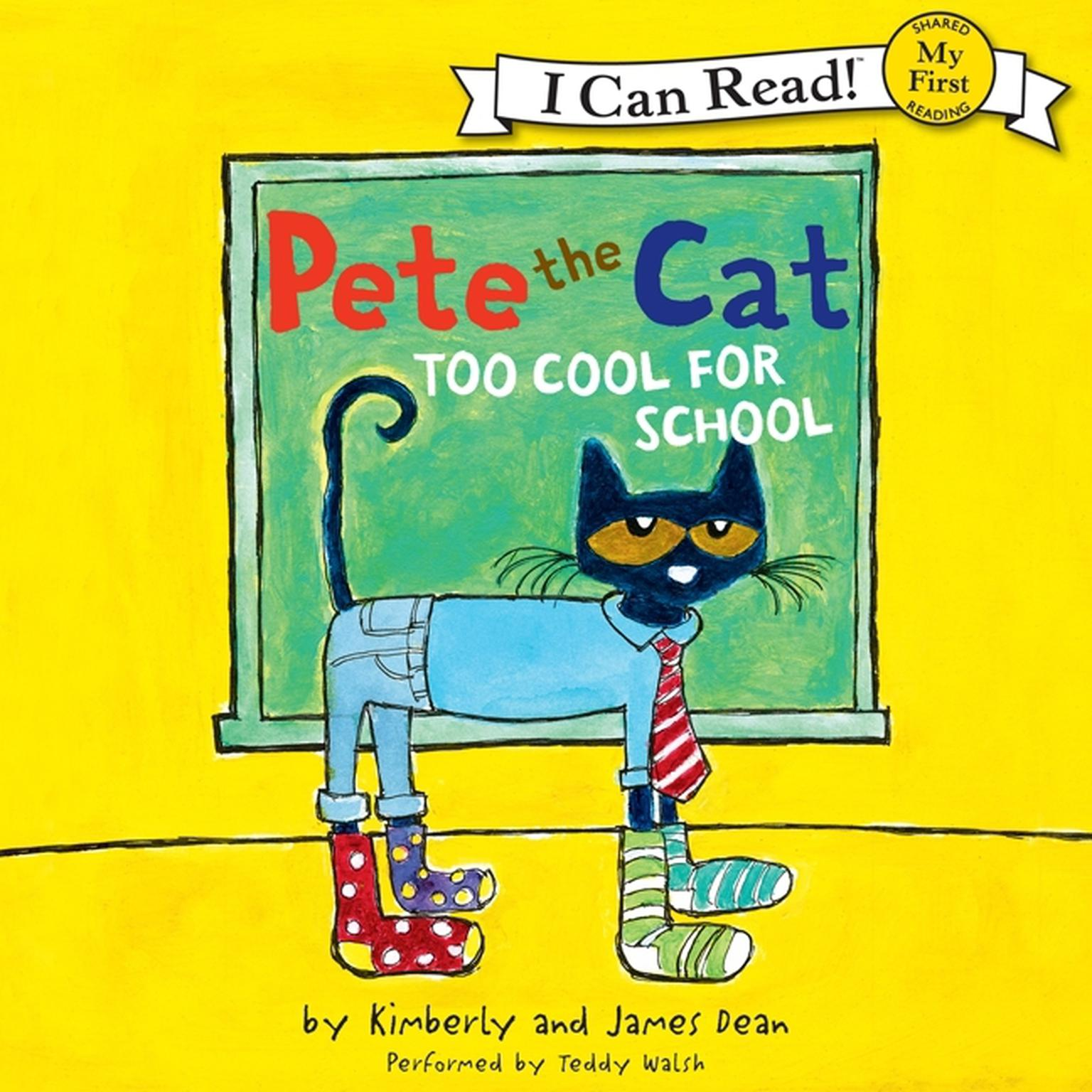 Printable Pete the Cat: Too Cool for School Audiobook Cover Art