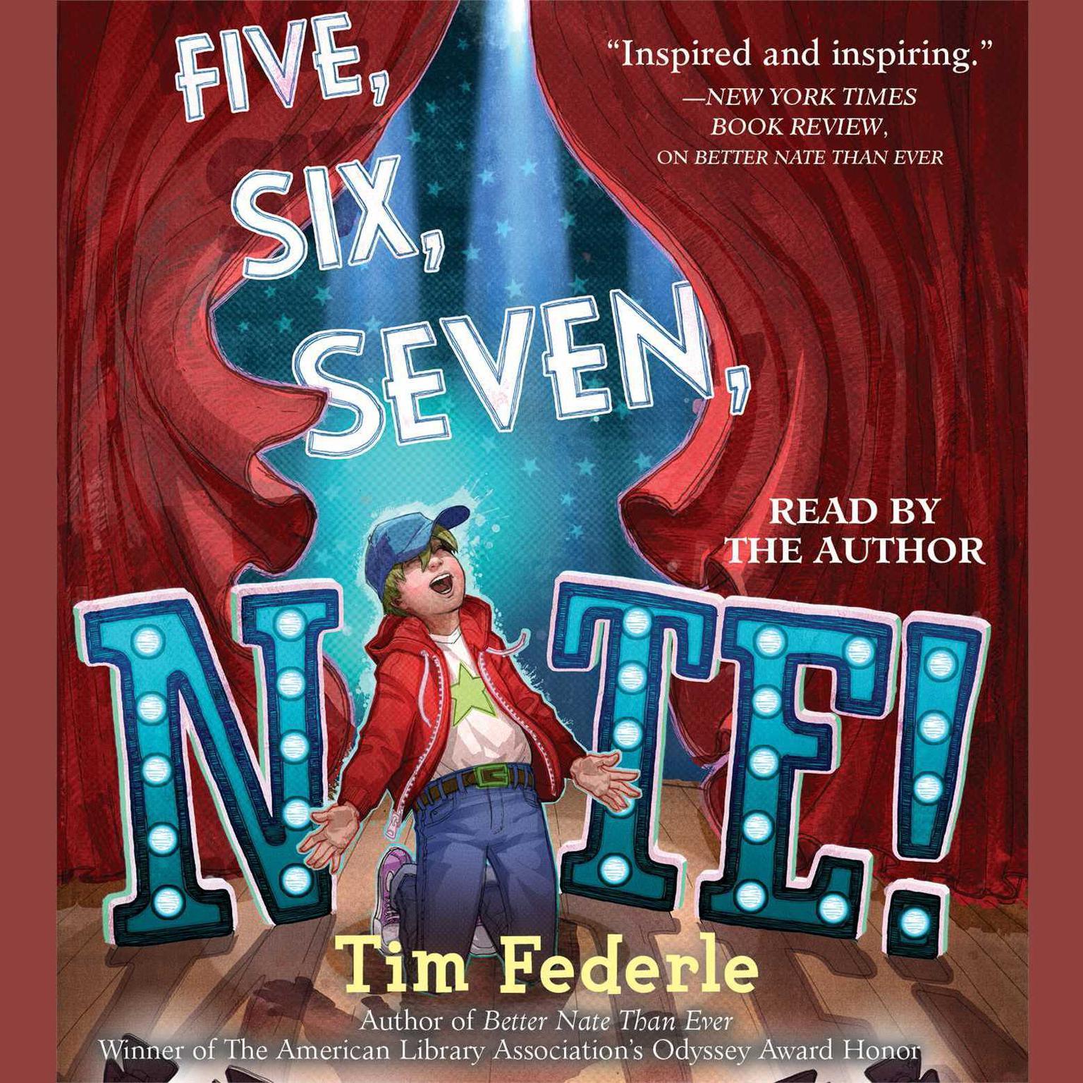 Printable Five, Six, Seven, Nate! Audiobook Cover Art