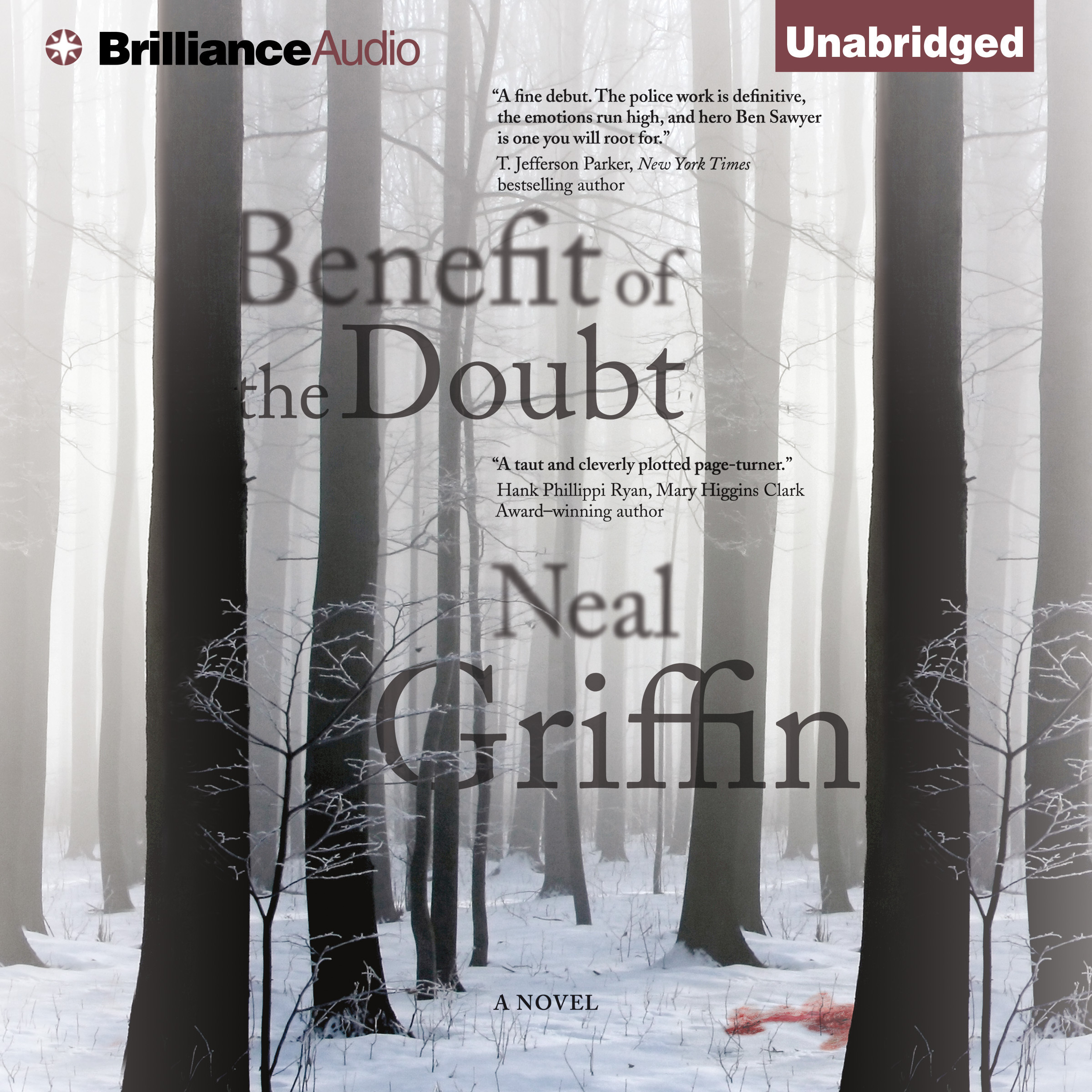Printable Benefit of the Doubt: A Novel Audiobook Cover Art