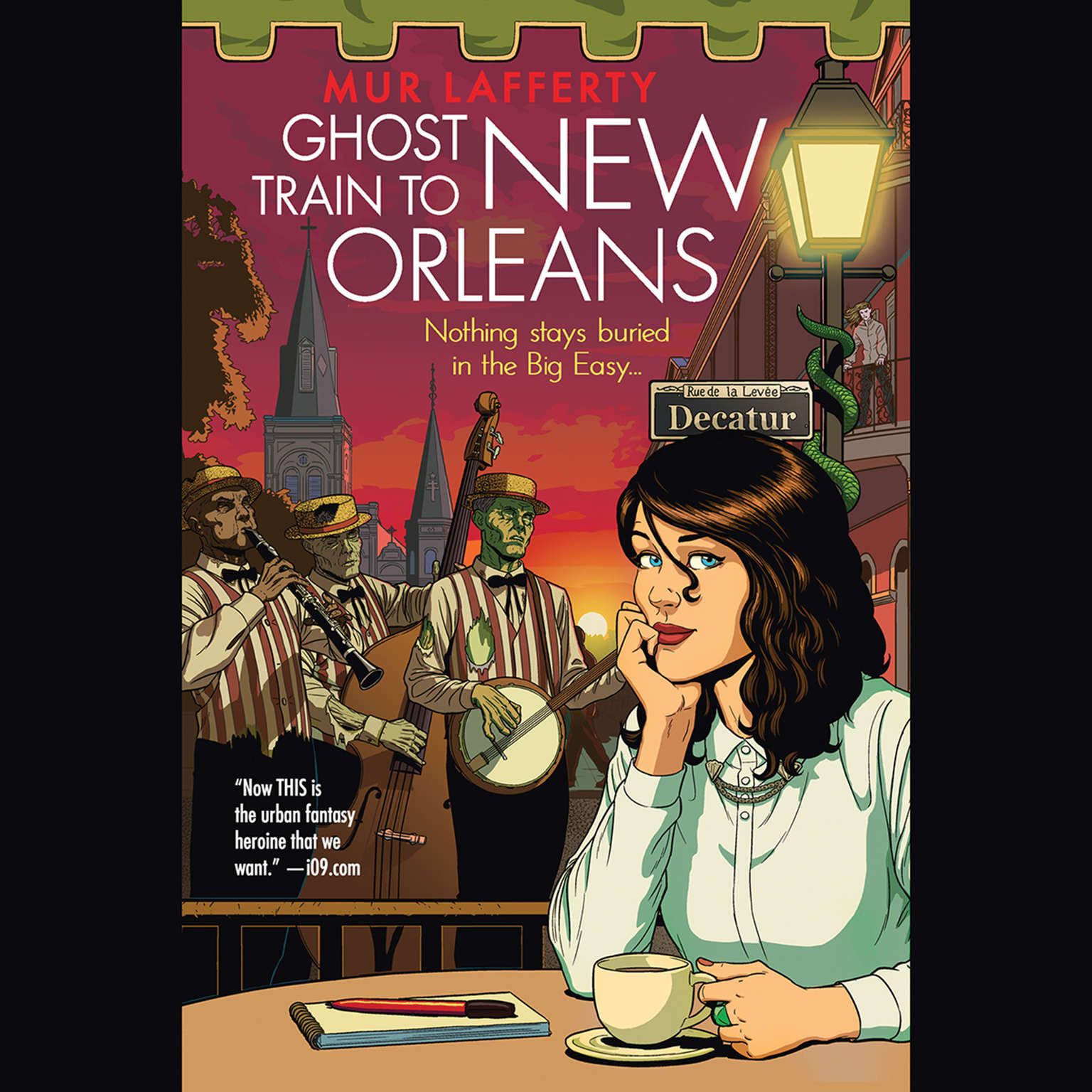 Printable Ghost Train to New Orleans Audiobook Cover Art