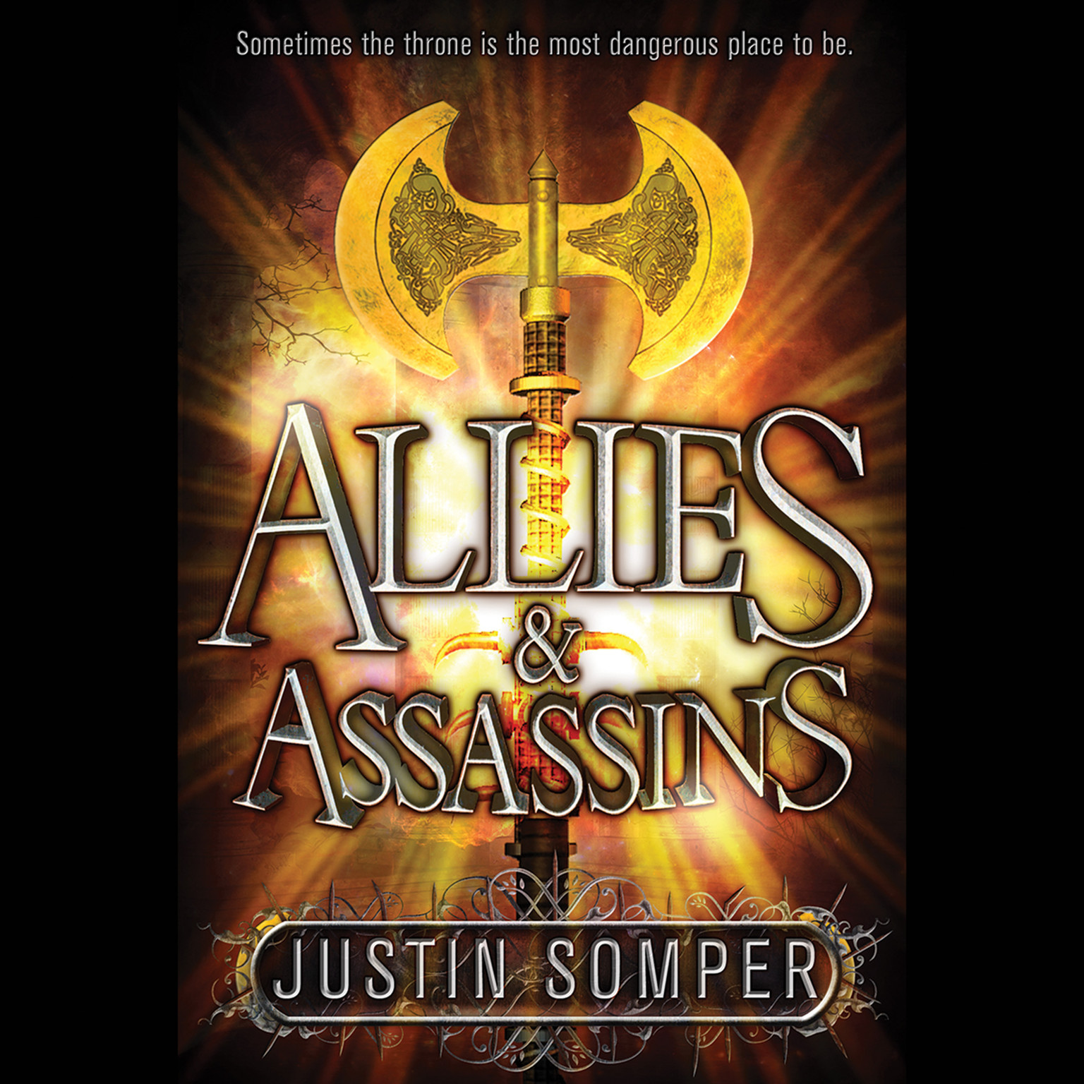 Printable Allies & Assassins Audiobook Cover Art