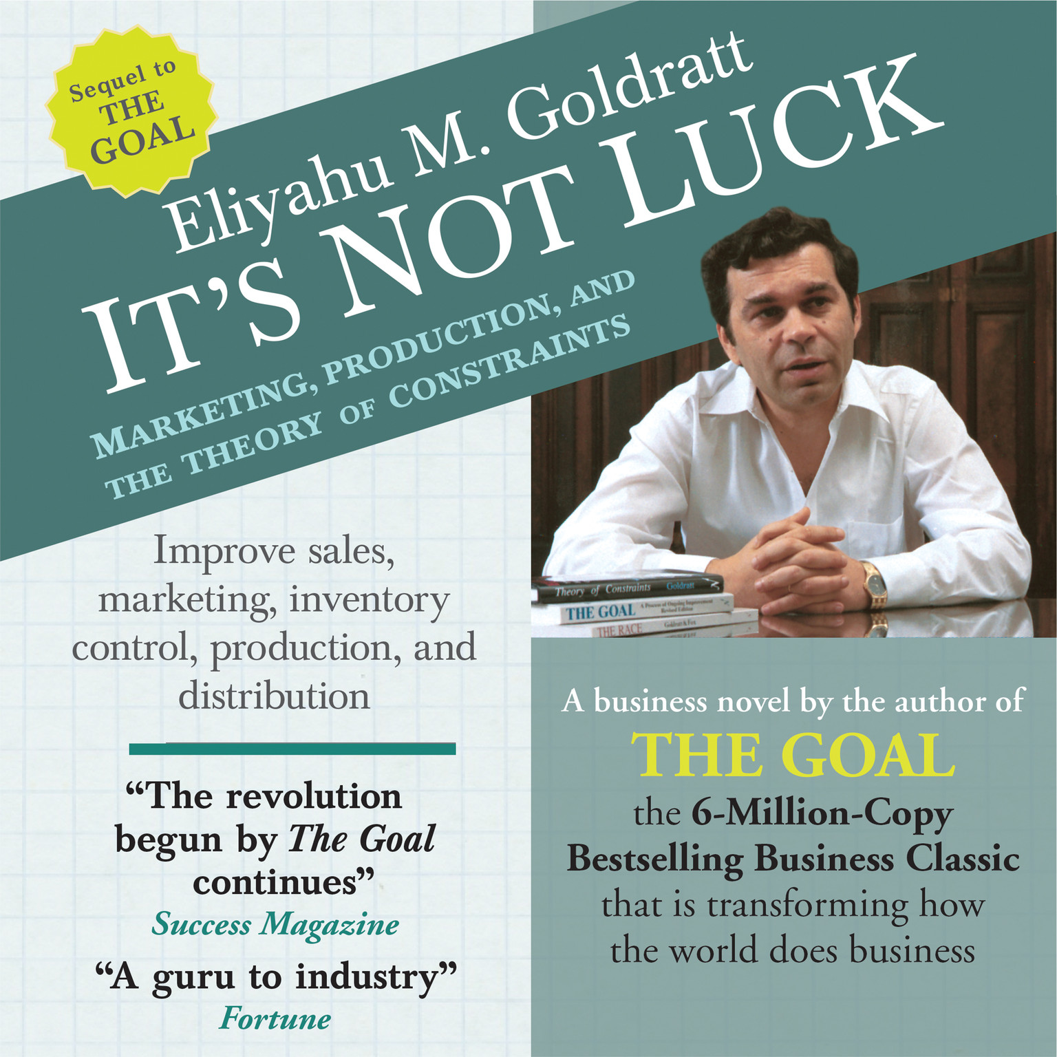 hear the goal audiobook by eliyahu m goldratt for just 5 95 its not luck marketing production and the theory of constraints audiobook