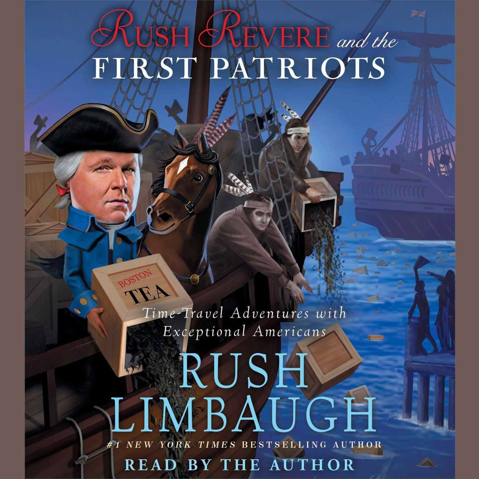 Printable Rush Revere and the First Patriots: Time-Travel Adventures With Exceptional Americans Audiobook Cover Art