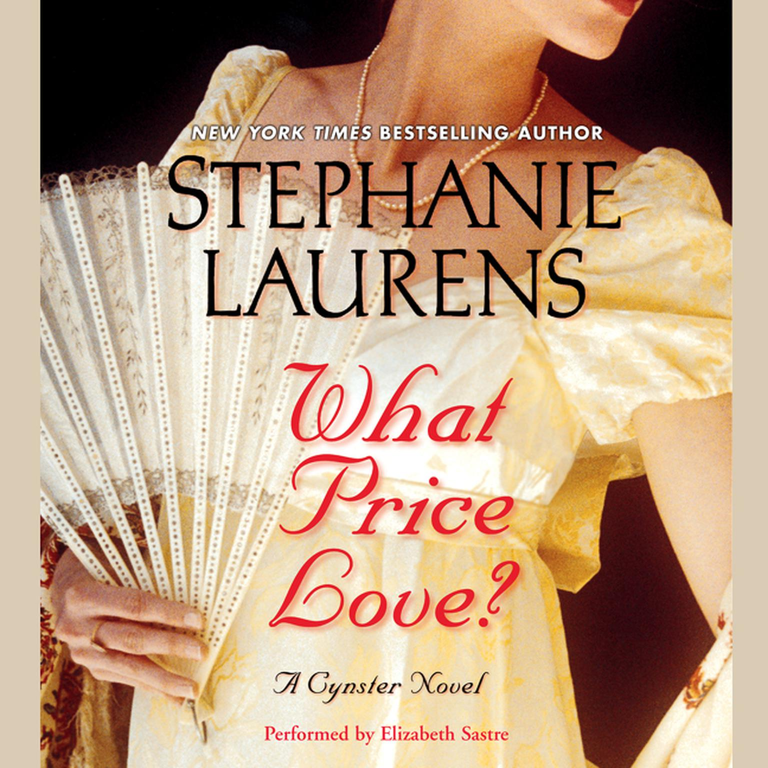 Printable What Price Love? (Abridged): A Cynster Novel Audiobook Cover Art