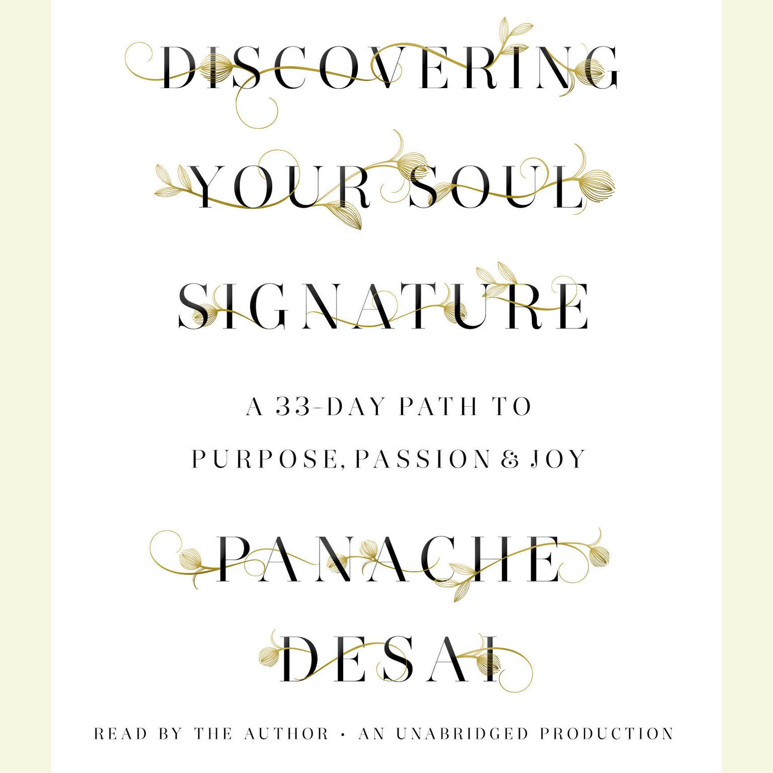 Printable Discovering Your Soul Signature: A 33-Day Path to Purpose, Passion & Joy Audiobook Cover Art