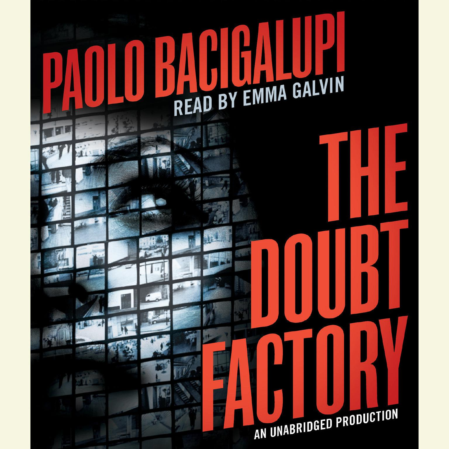 Printable The Doubt Factory Audiobook Cover Art