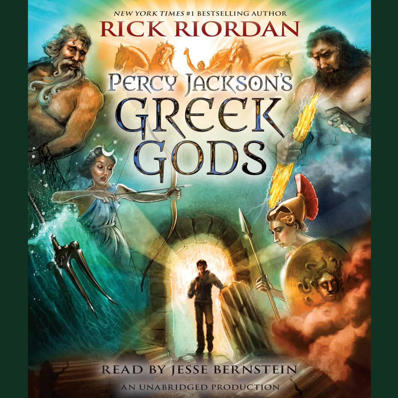 Printable Percy Jackson's Greek Gods Audiobook Cover Art