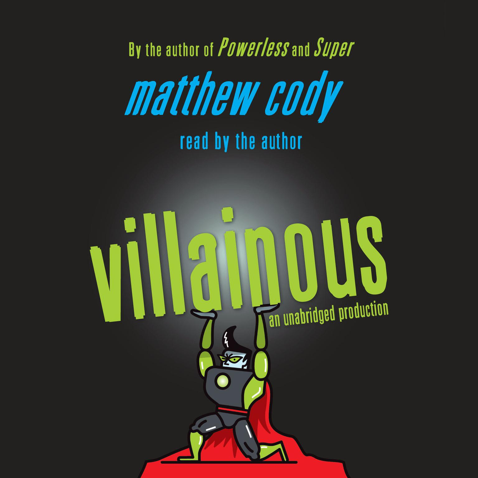 Printable Villainous Audiobook Cover Art