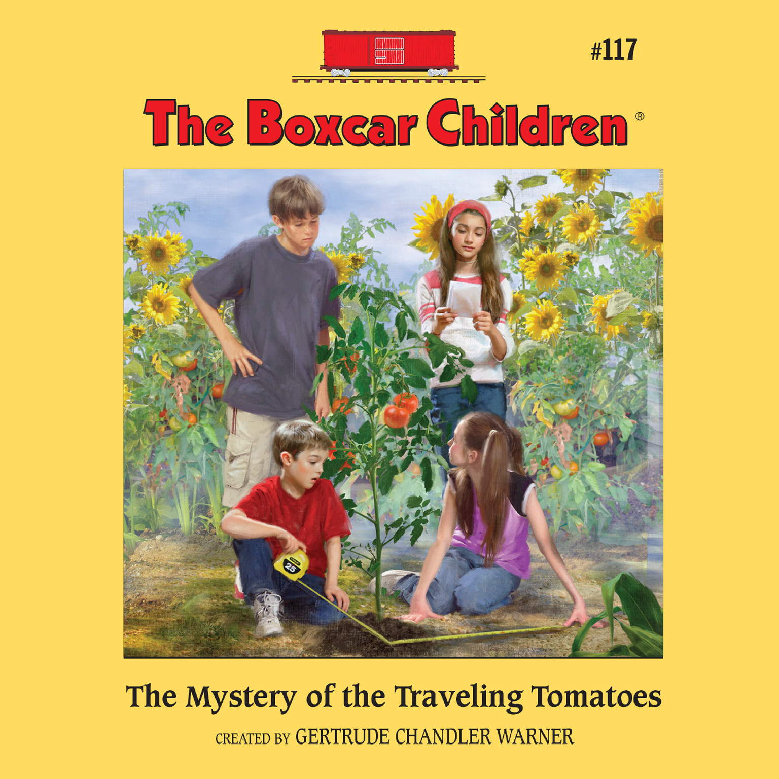 Printable The Mystery of the Traveling Tomatoes Audiobook Cover Art