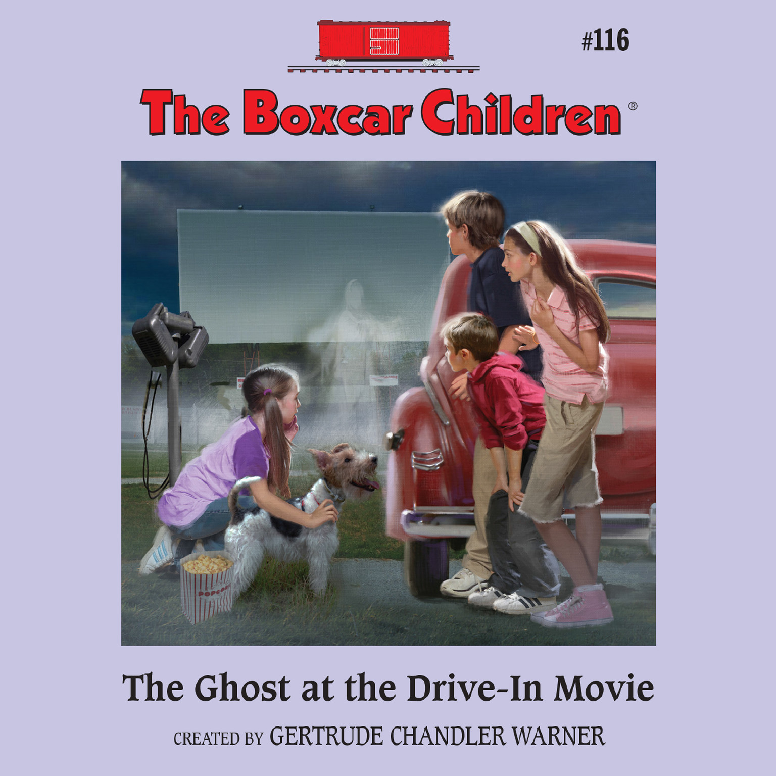 Printable The Ghost at the Drive-In Movie Audiobook Cover Art