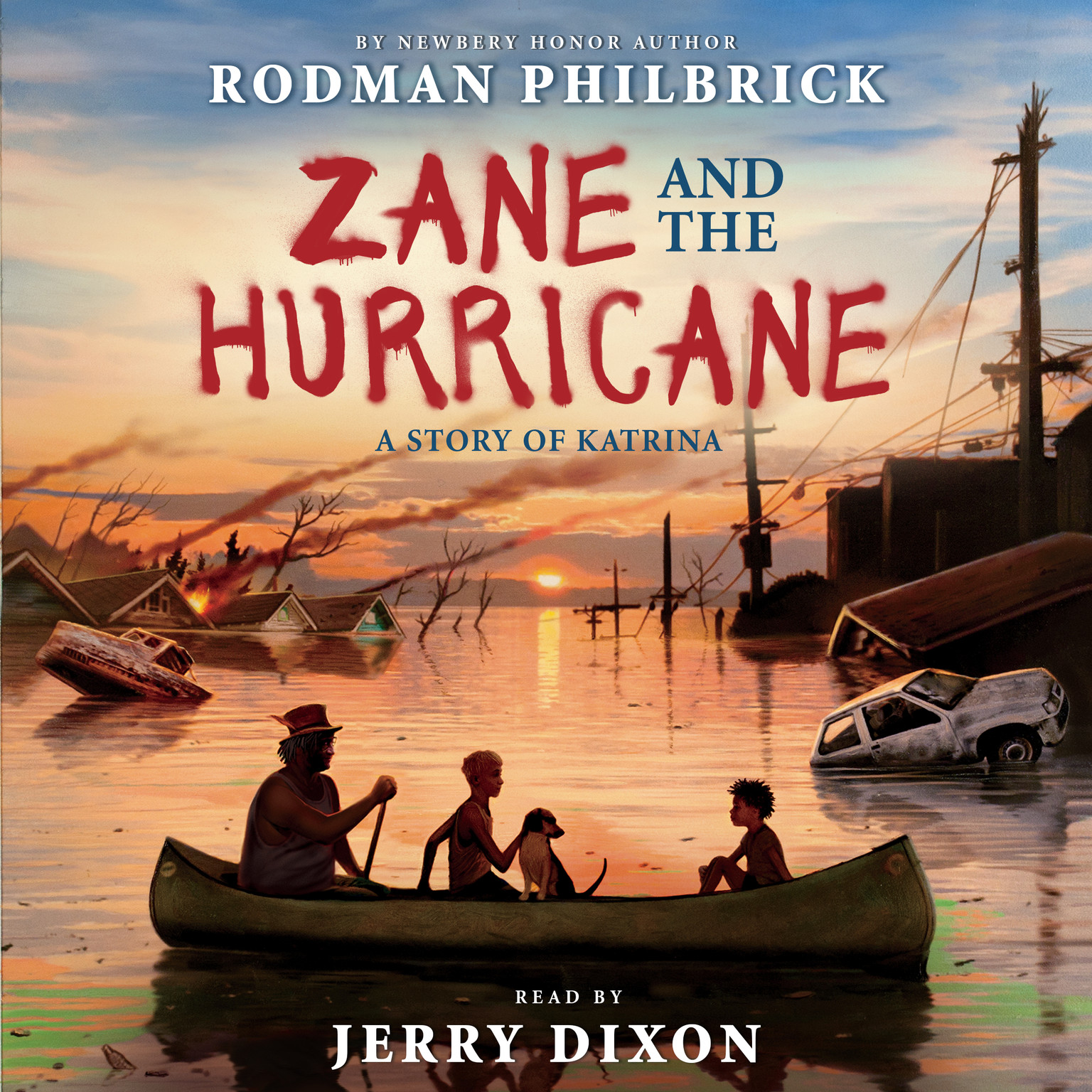 Printable Zane and the Hurricane: A Story of Katrina Audiobook Cover Art