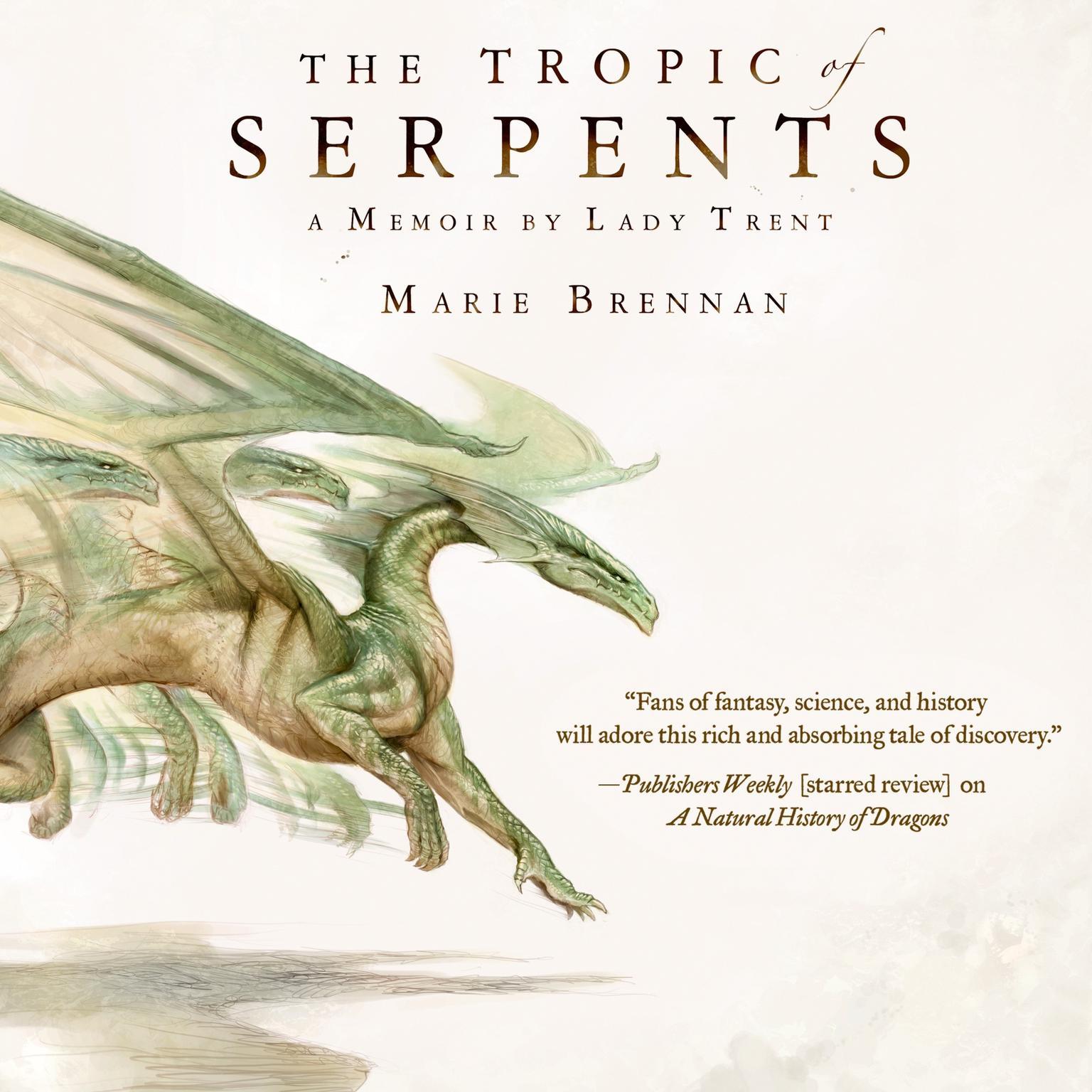Printable The Tropic of Serpents: A Memoir by Lady Trent Audiobook Cover Art