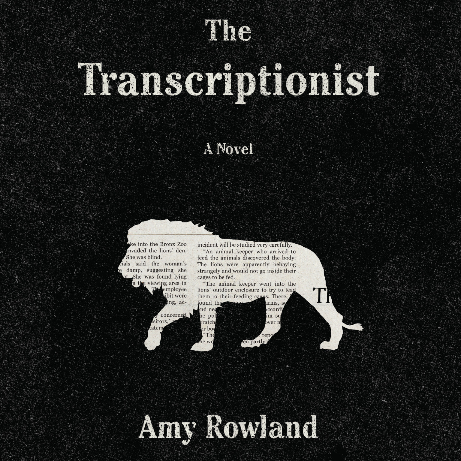 Printable The Transcriptionist Audiobook Cover Art
