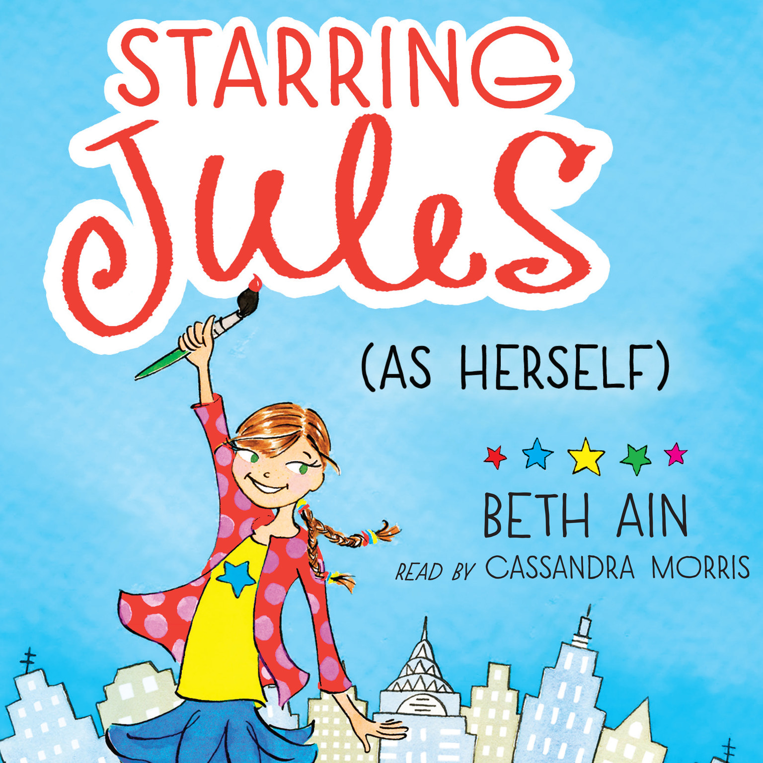 Printable Starring Jules (As Herself) Audiobook Cover Art
