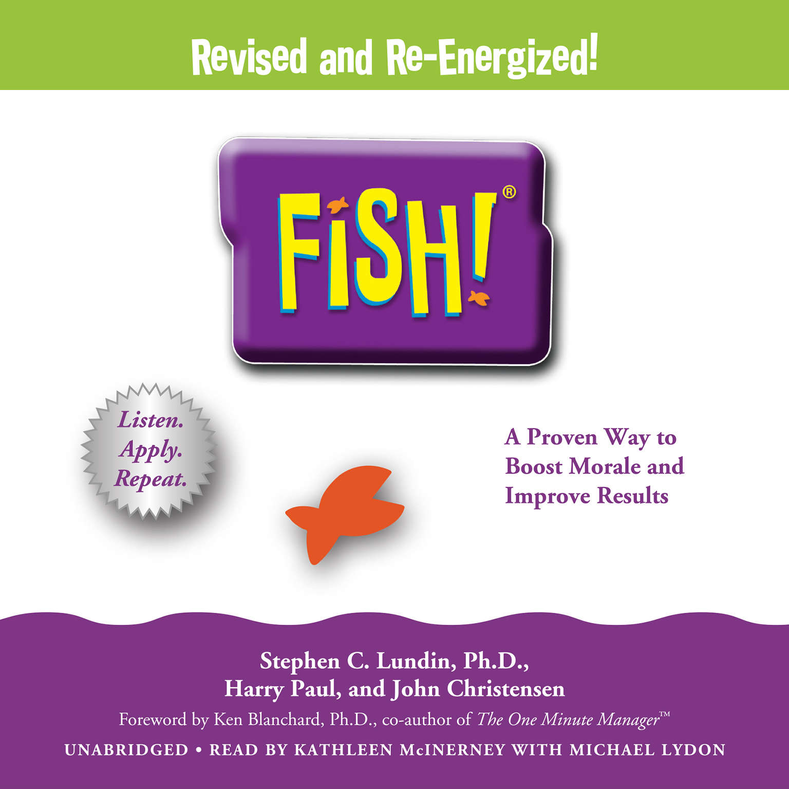 Printable Fish!: A Remarkable Way to Boost Morale and Improve Results Audiobook Cover Art