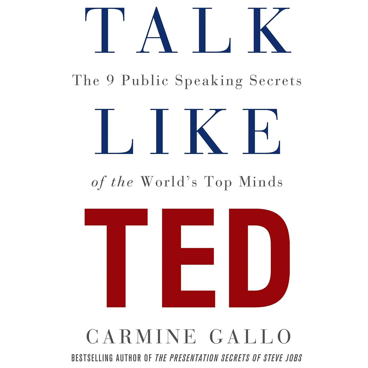Printable Talk Like TED: The 9 Public-Speaking Secrets of the World's Top Minds Audiobook Cover Art