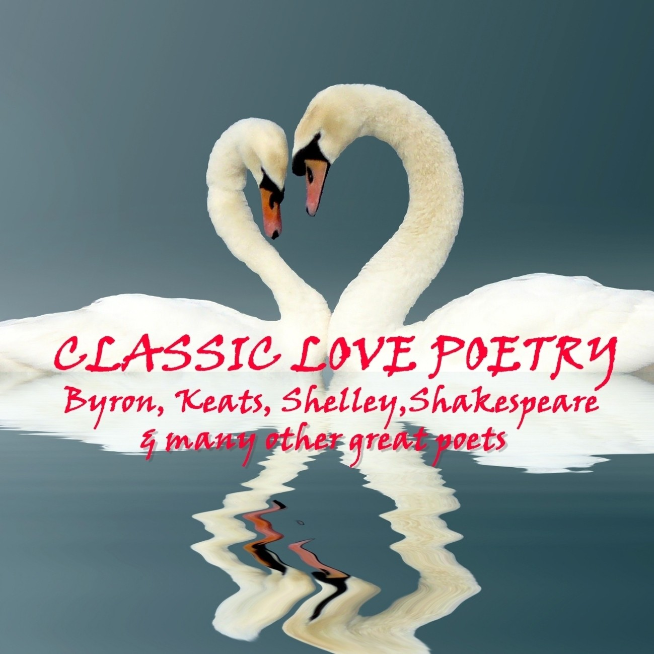Printable Classic Love Poetry Audiobook Cover Art