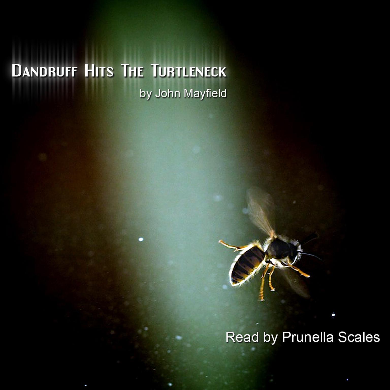 Printable Dandruff Hits the Turtleneck Audiobook Cover Art