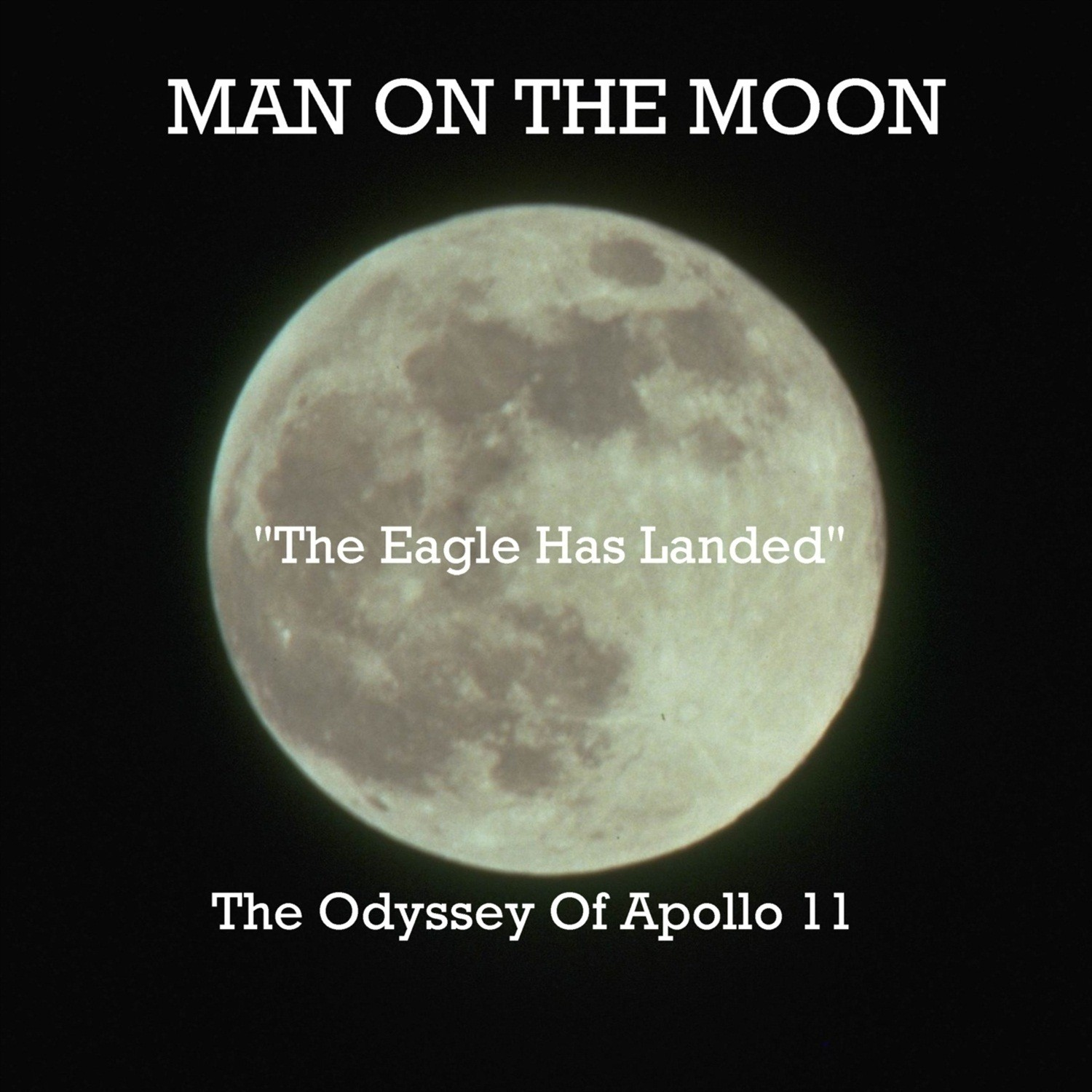 Printable Man on the Moon Audiobook Cover Art