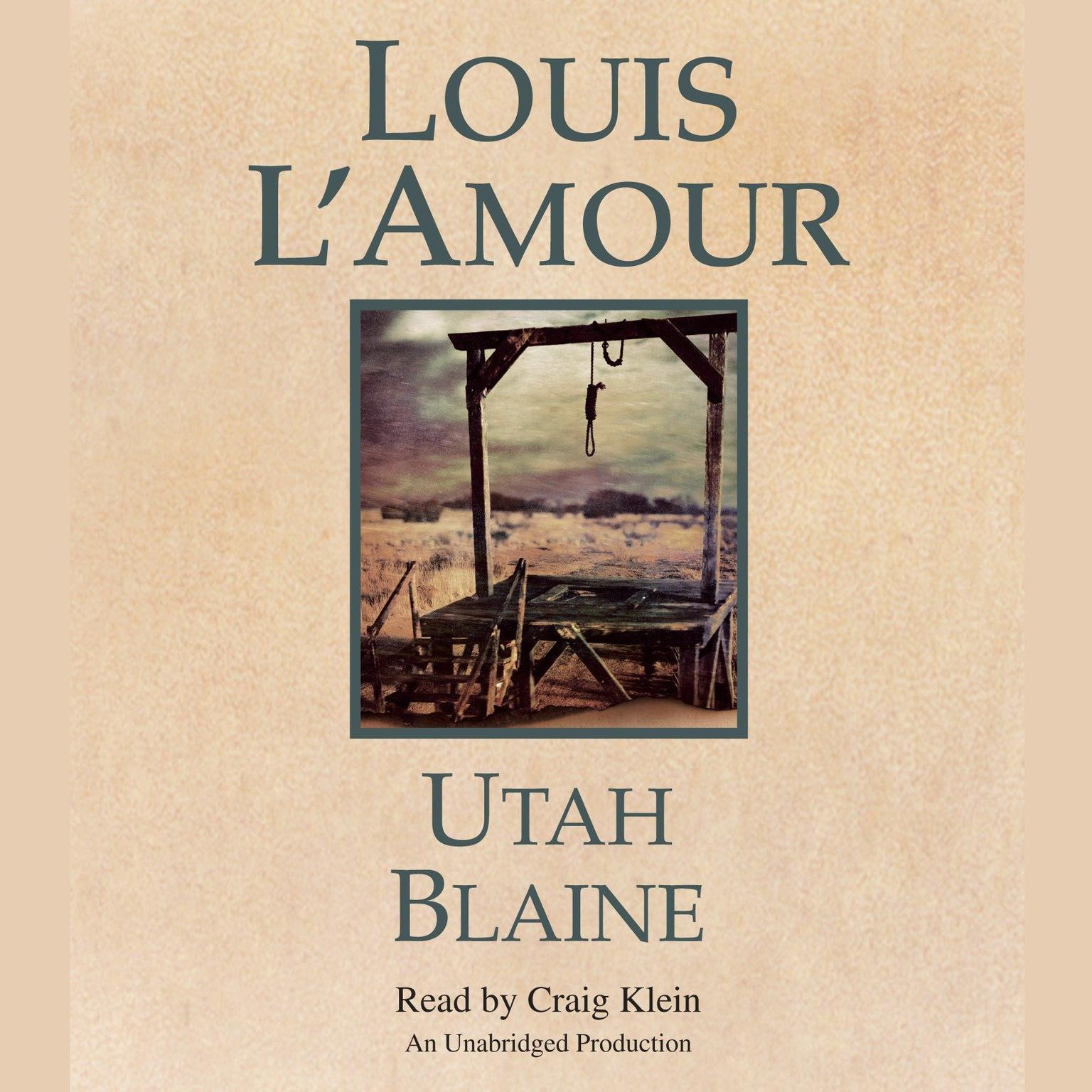 Printable Utah Blaine Audiobook Cover Art