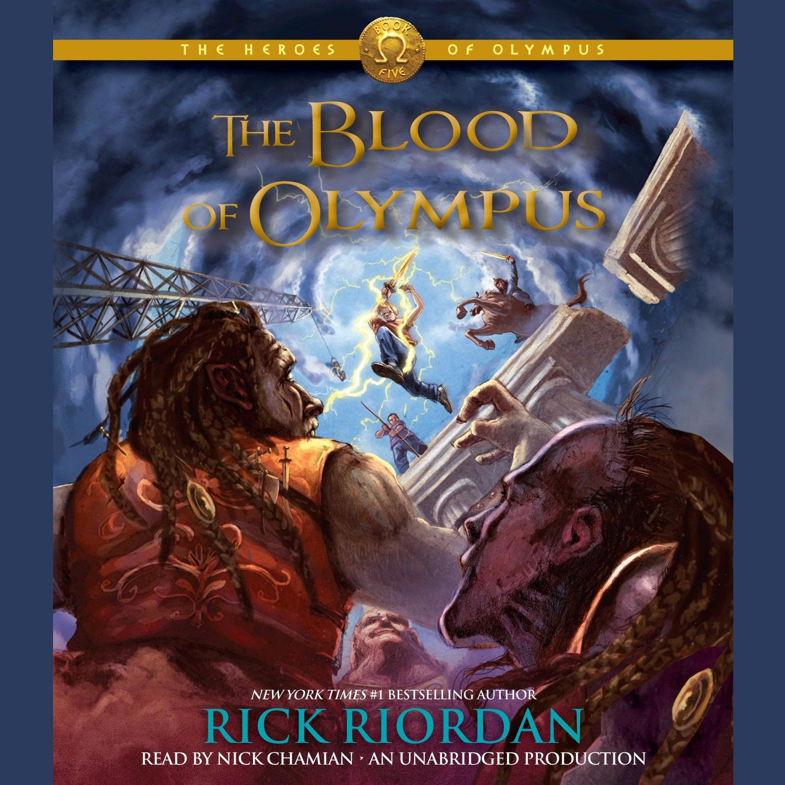 Printable The Blood of Olympus Audiobook Cover Art
