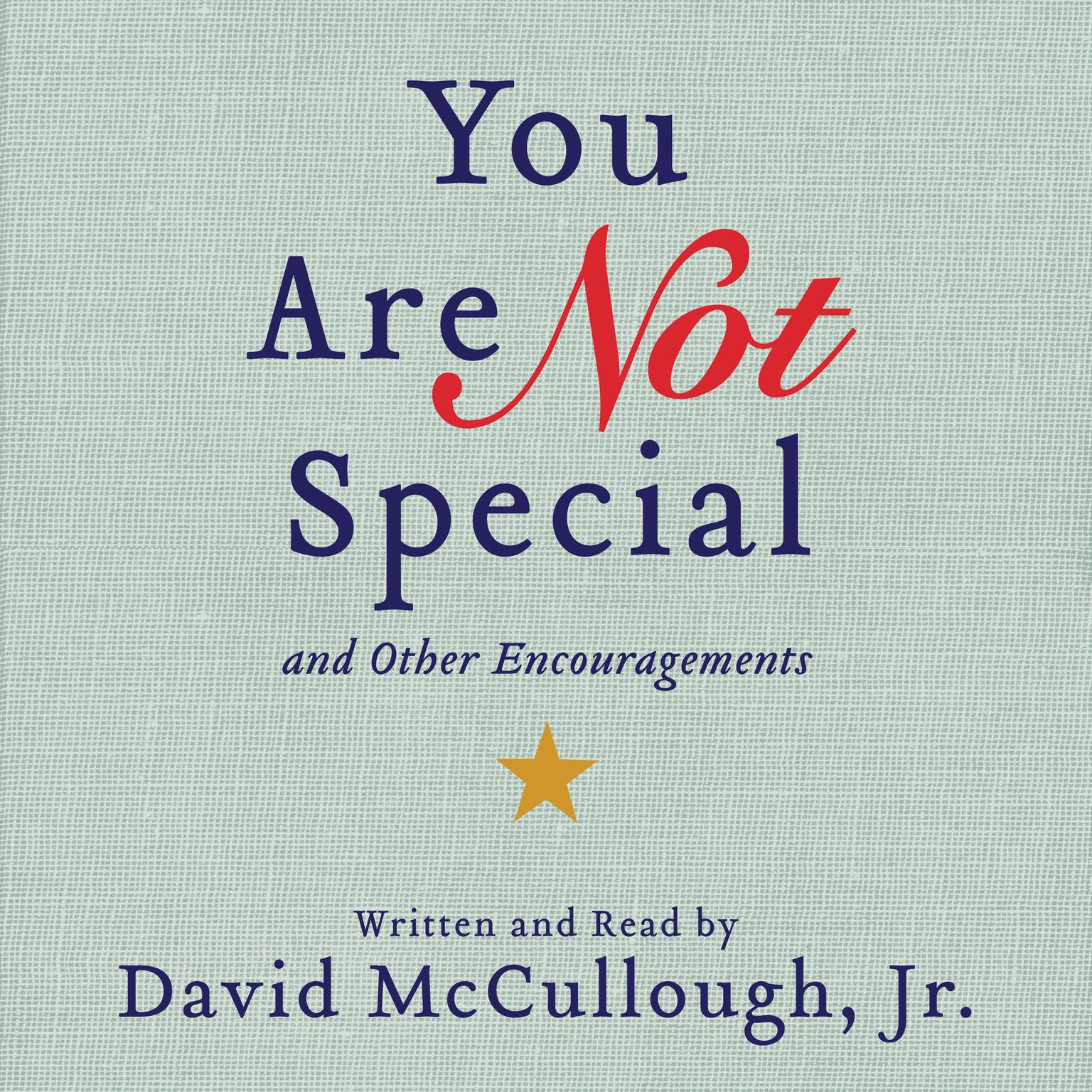 Printable You Are Not Special: ...And Other Encouragements Audiobook Cover Art