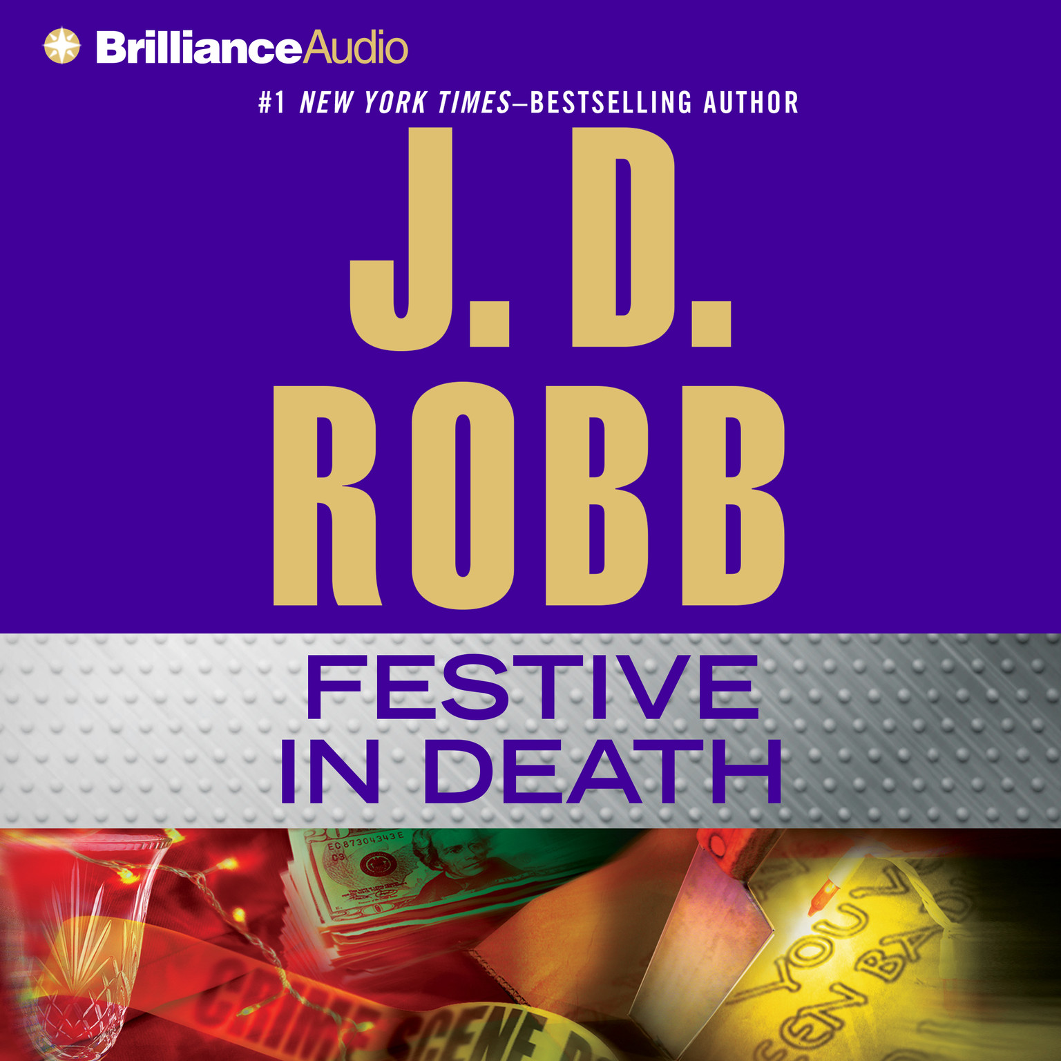 Printable Festive in Death Audiobook Cover Art