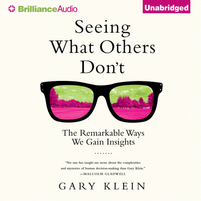 Seeing What Others Dont: The Remarkable Ways We Gain Insights Audiobook, by Gary Klein