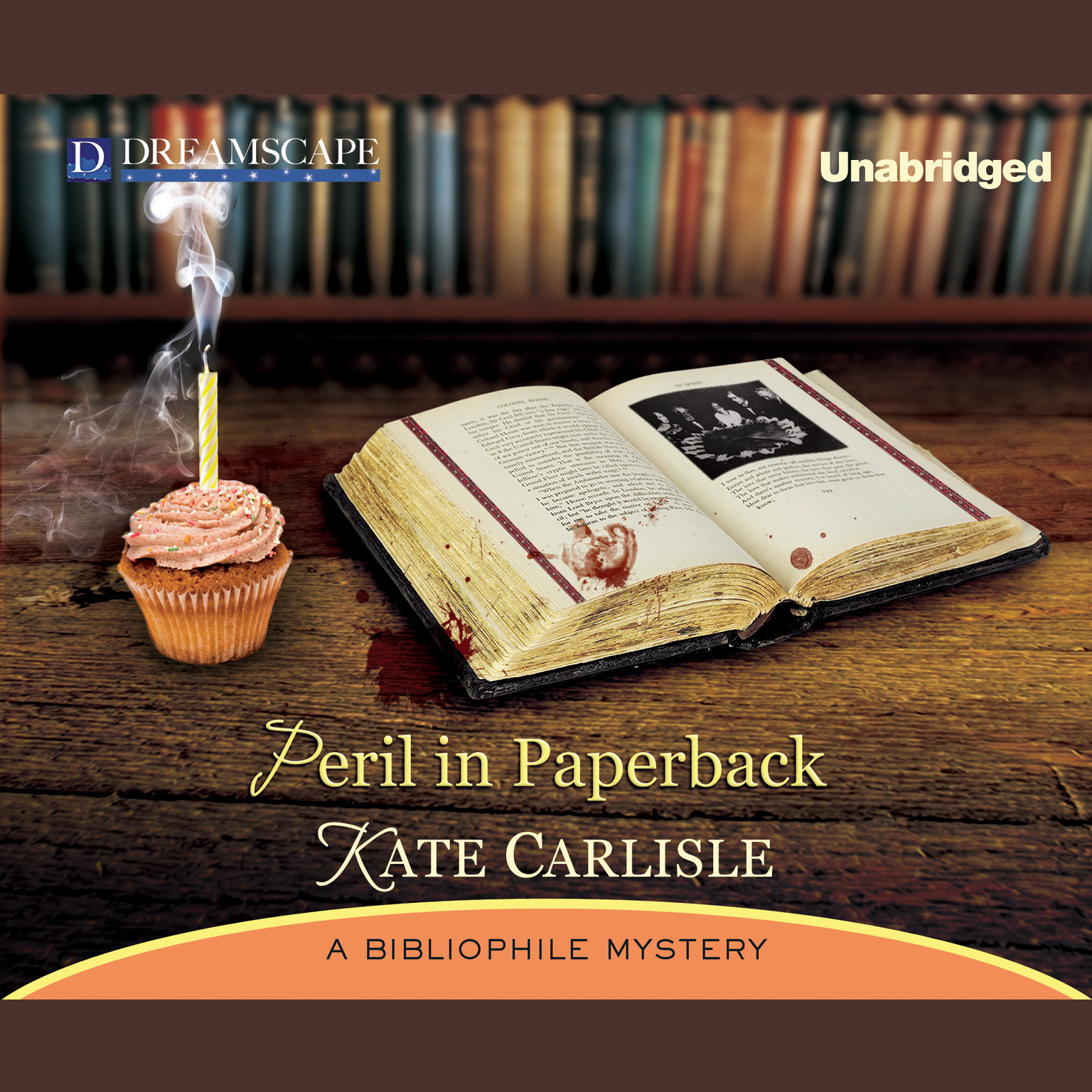 Printable Peril in Paperback: A Bibliophile Mystery Audiobook Cover Art