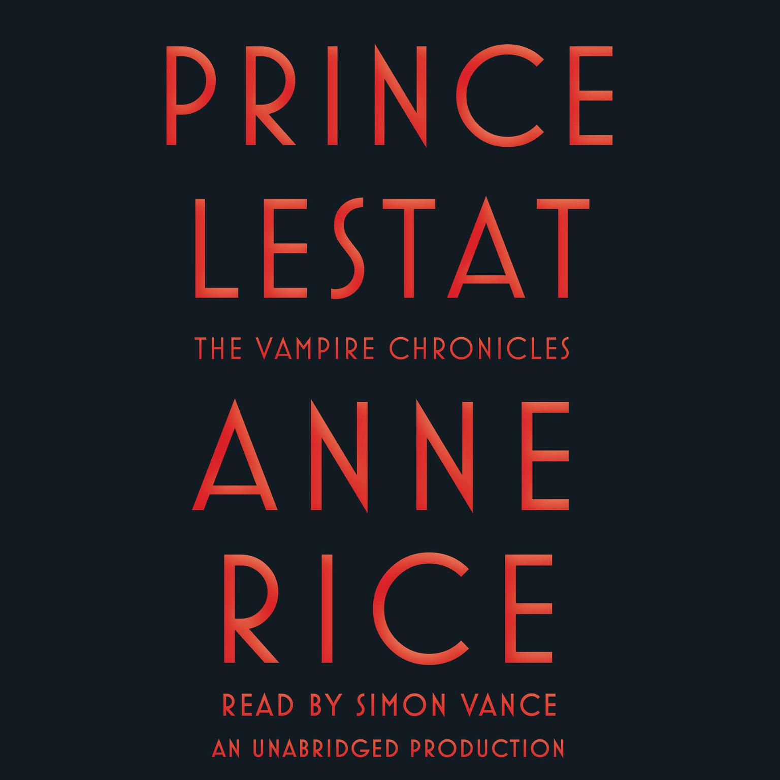 Printable Prince Lestat: The Vampire Chronicles Audiobook Cover Art