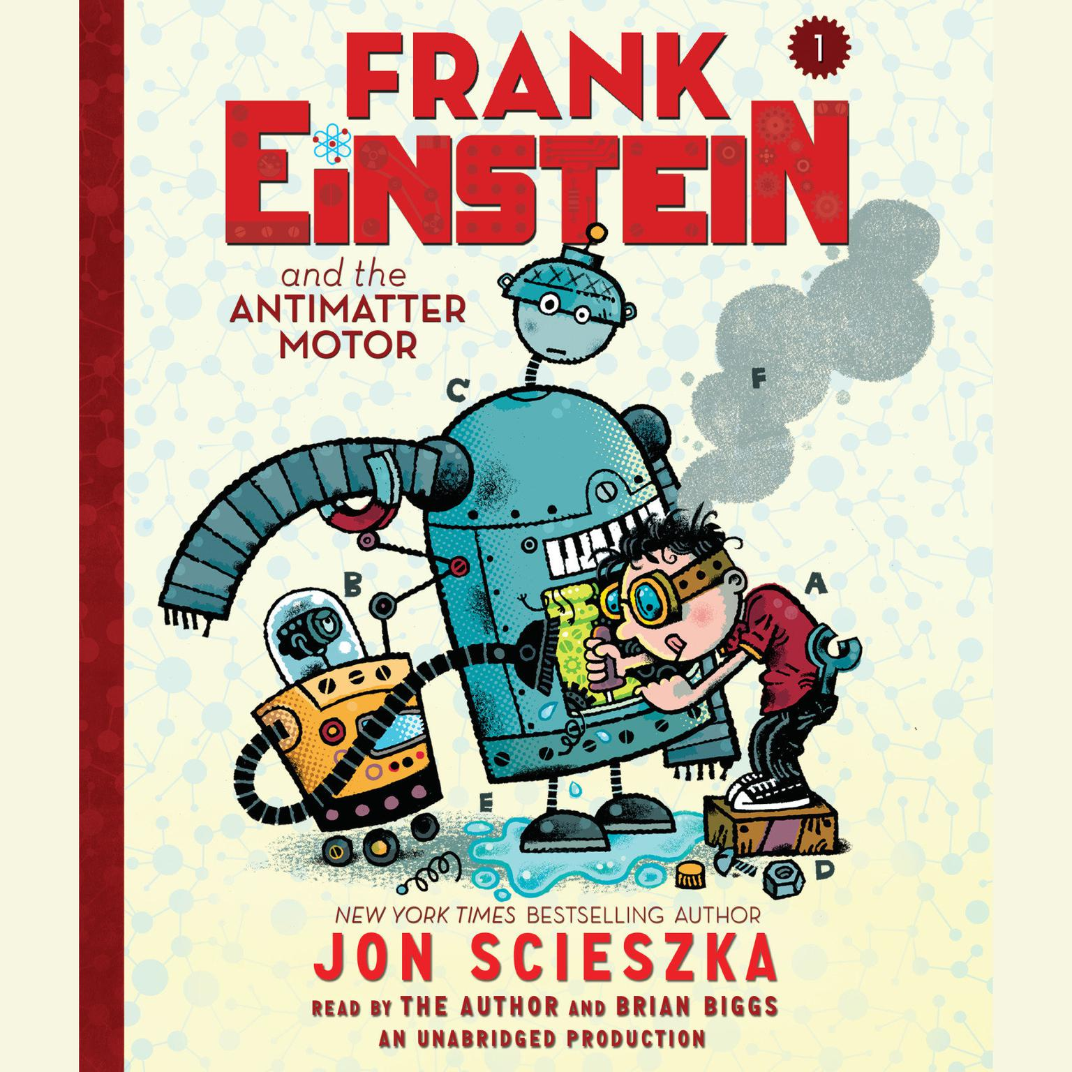 Printable Frank Einstein and the Antimatter Motor Audiobook Cover Art