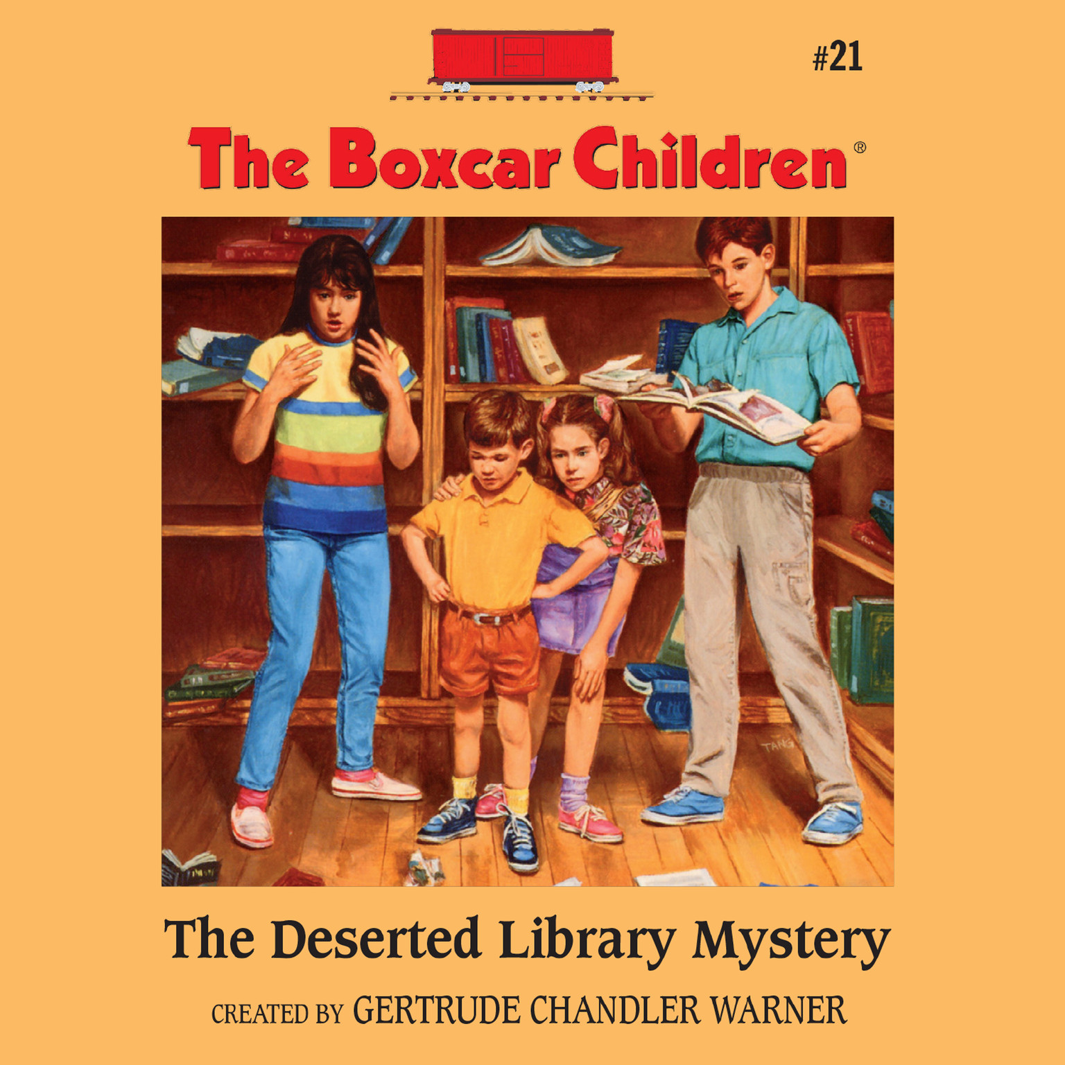 Printable The Deserted Library Mystery Audiobook Cover Art