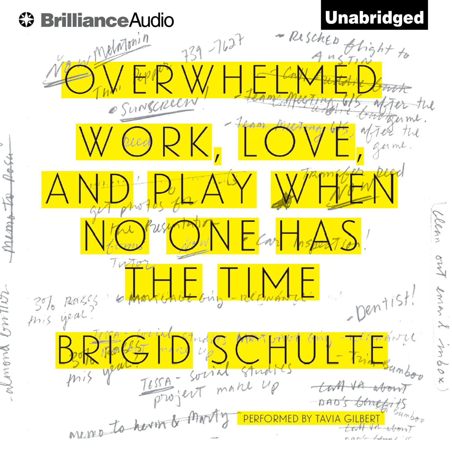 Printable Overwhelmed: Work, Love, and Play When No One Has the Time Audiobook Cover Art