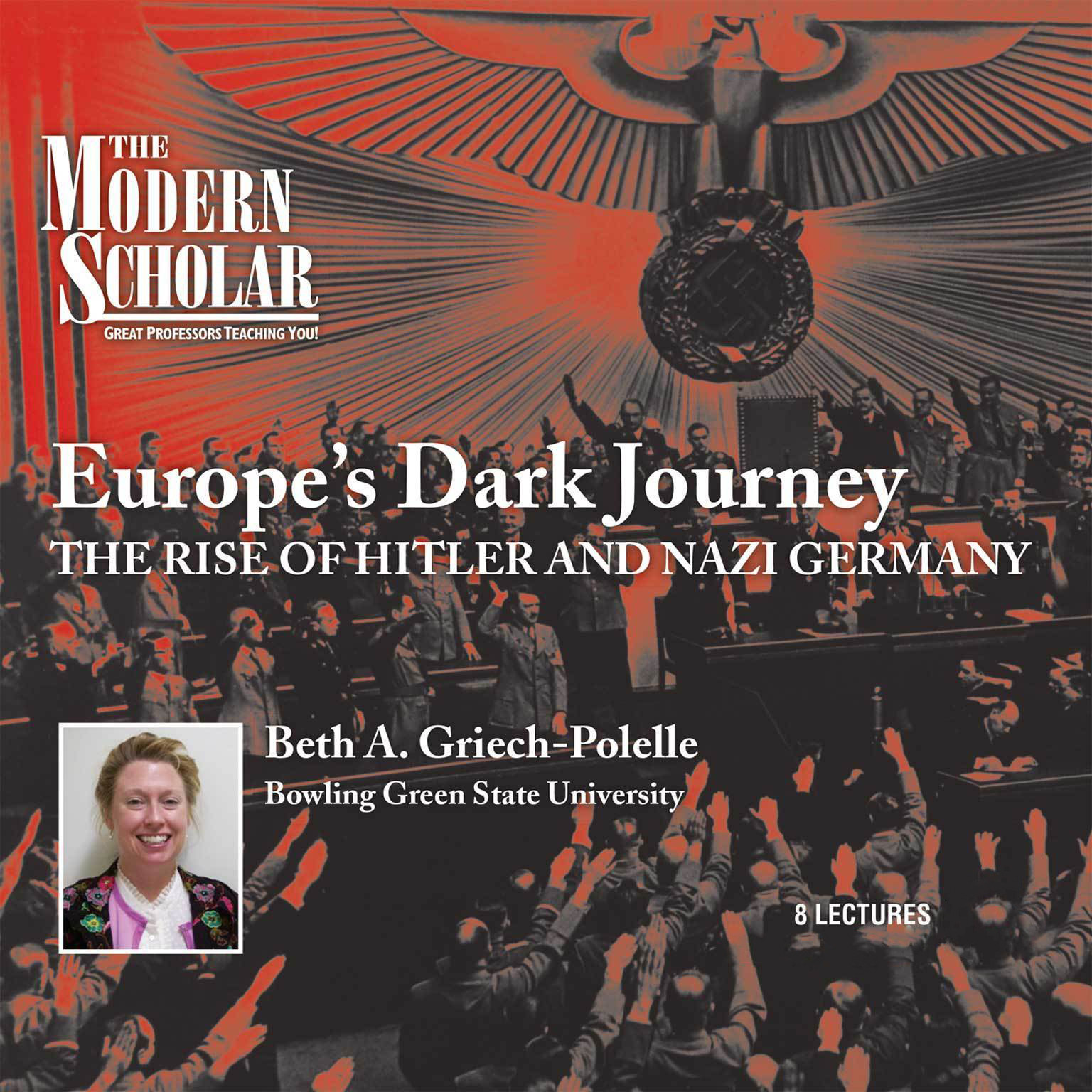 Printable Europe's Dark Journey: The Rise of Hitler and Nazi Germany Audiobook Cover Art