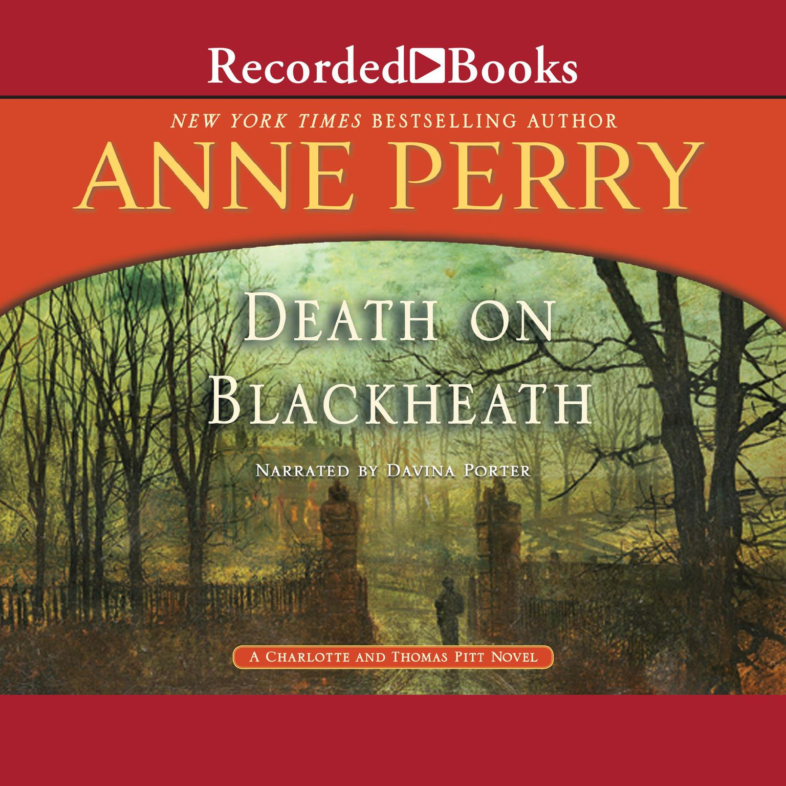 Printable Death on Blackheath: A Charlotte and Thomas Pitt Novel Audiobook Cover Art