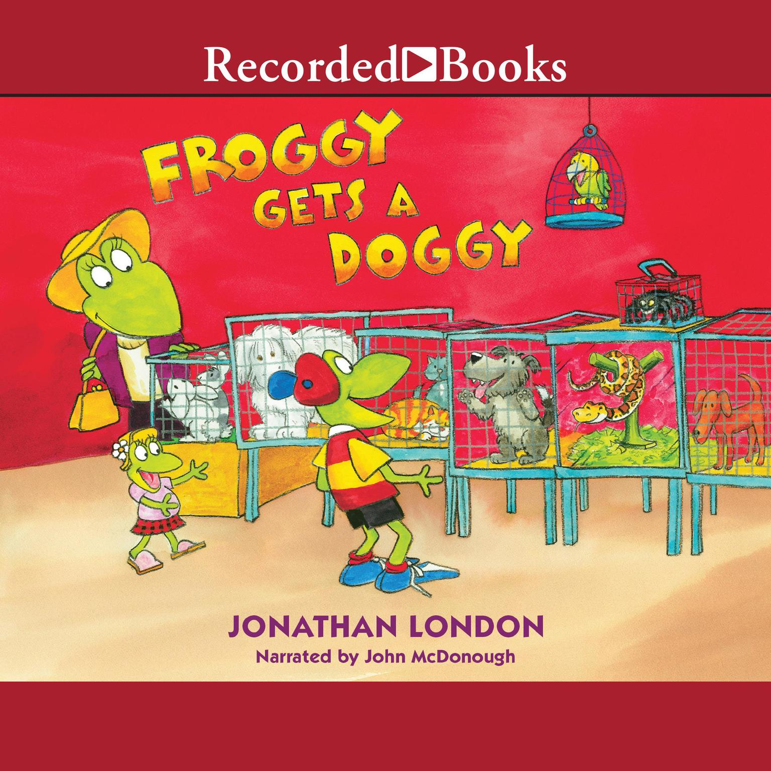 Printable Froggy Gets a Doggy Audiobook Cover Art