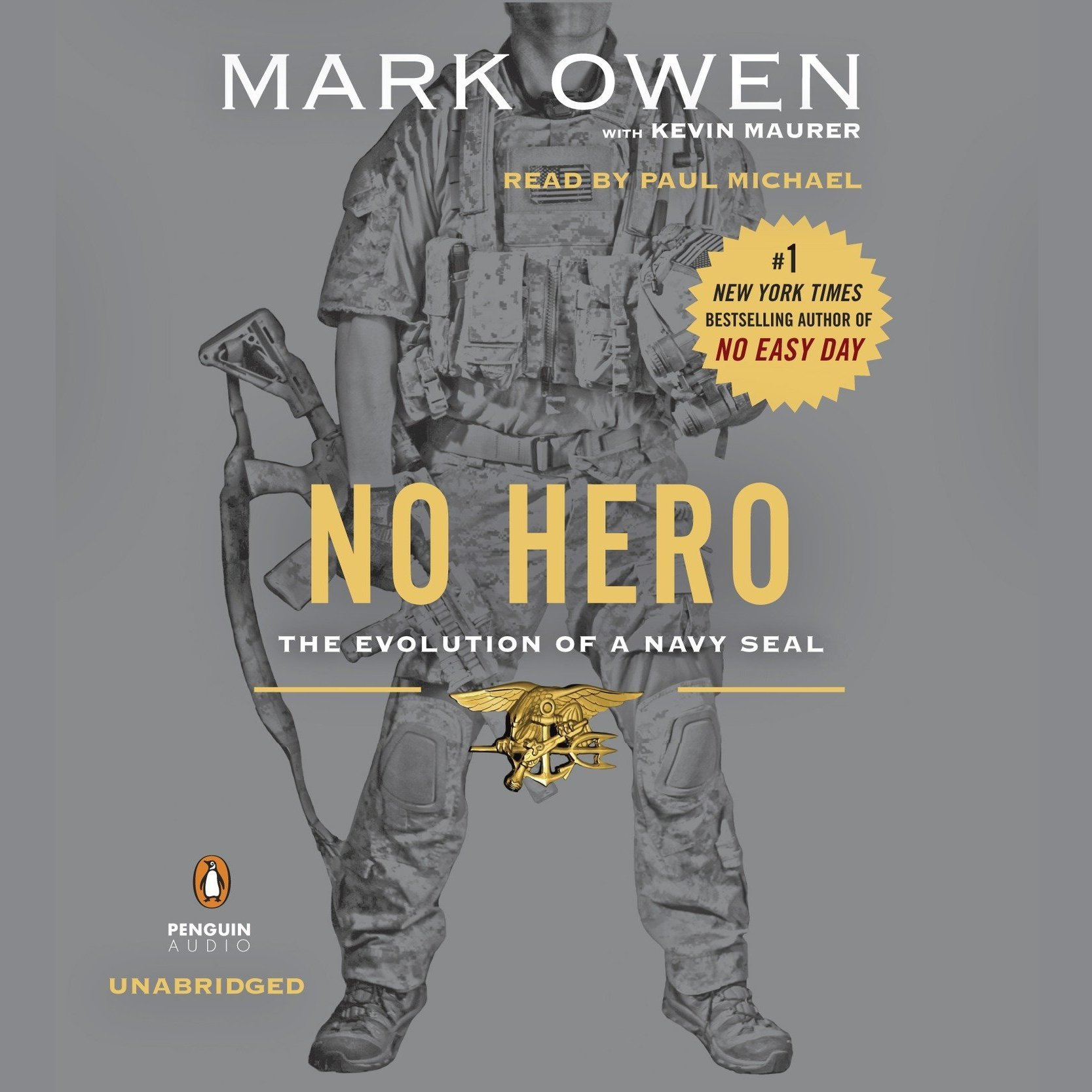 Printable No Hero: The Evolution of a Navy SEAL Audiobook Cover Art