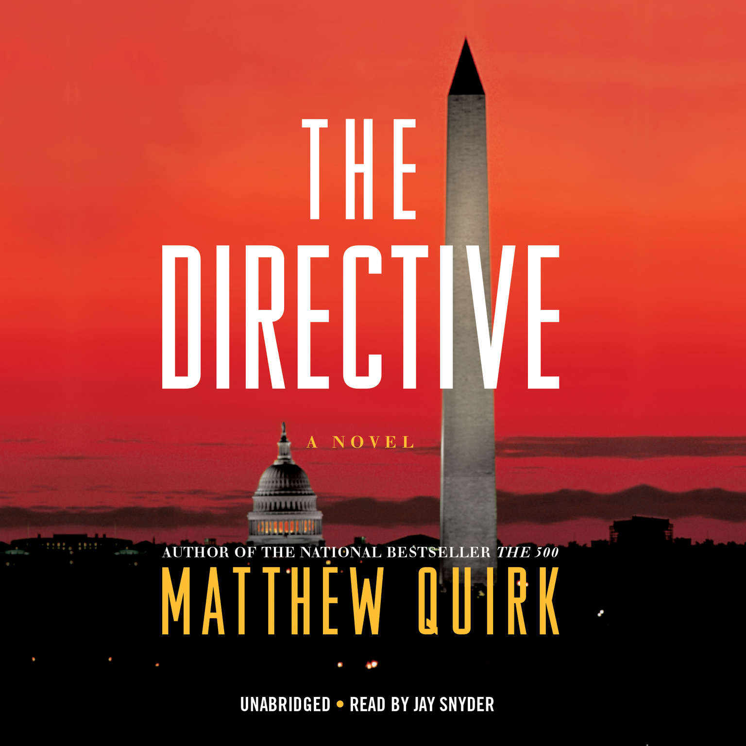 Printable The Directive: A Novel Audiobook Cover Art